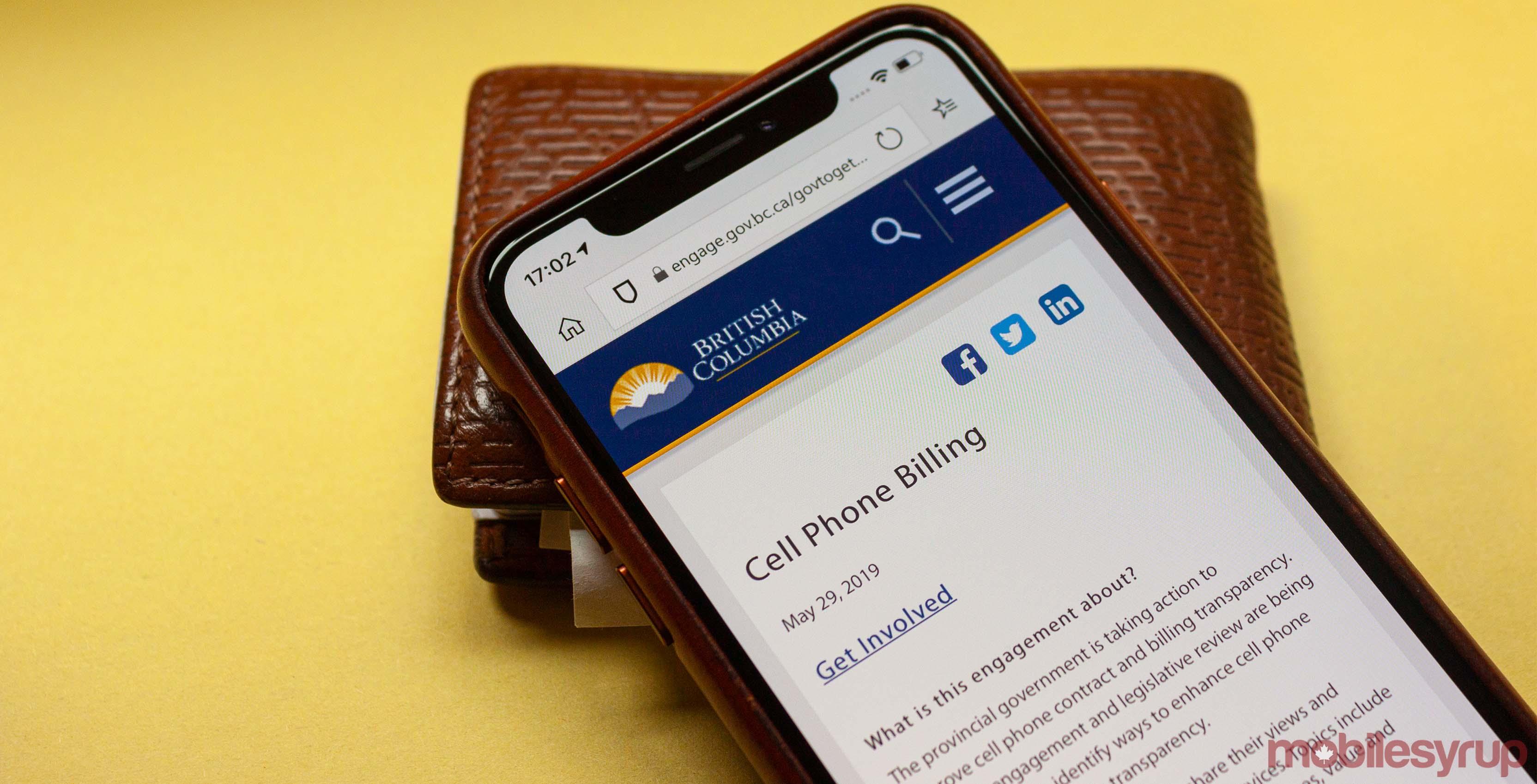 B.C. cellphone billing survey