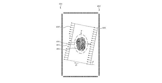 iPhone in-display fingerprint patent