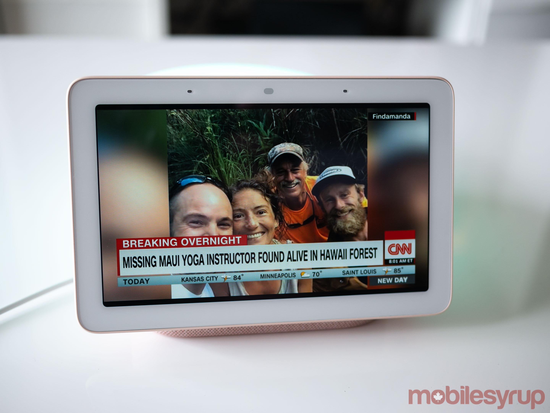 CNN on Nest Hub