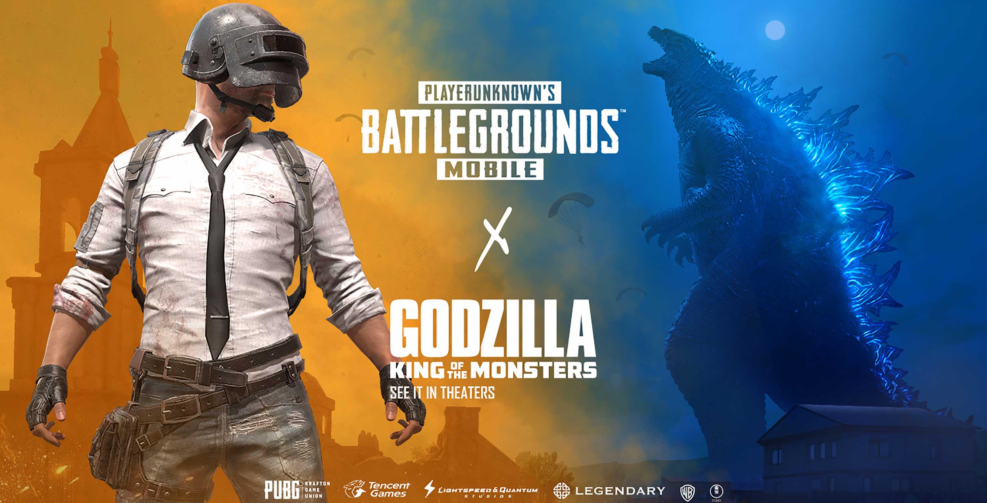 PUBG Mobile Godzilla crossover