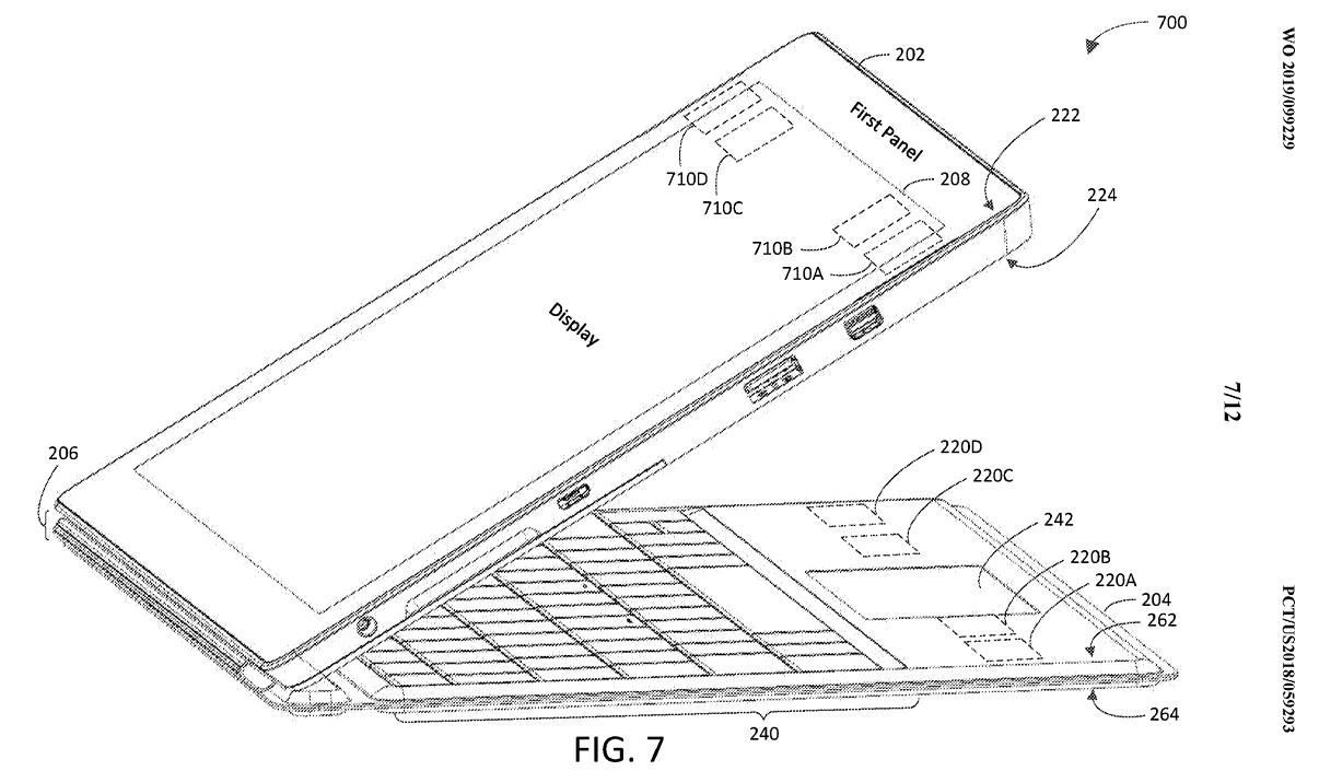 Surface Pro 7 patent drawing