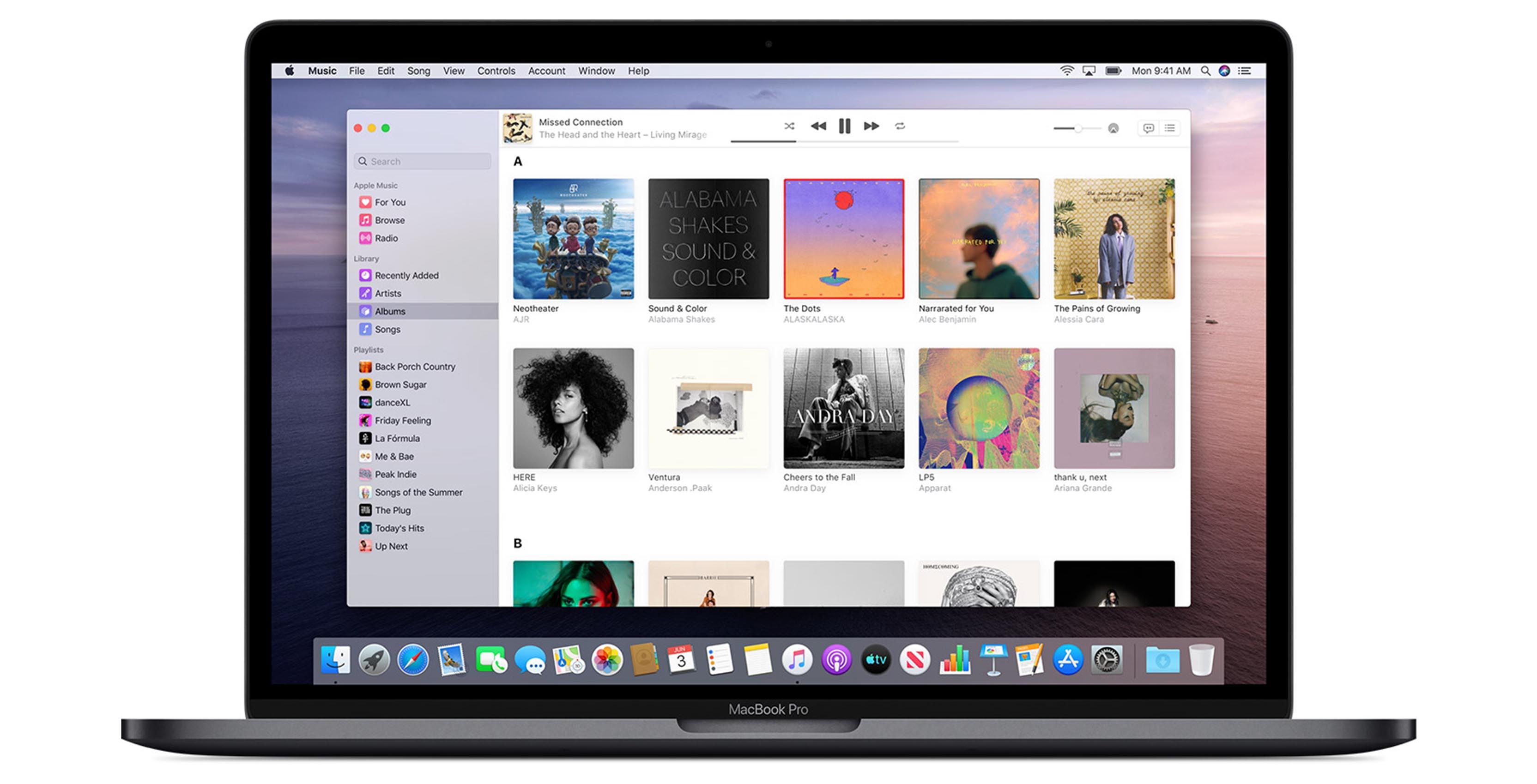 Apple Music on macOS Catalina