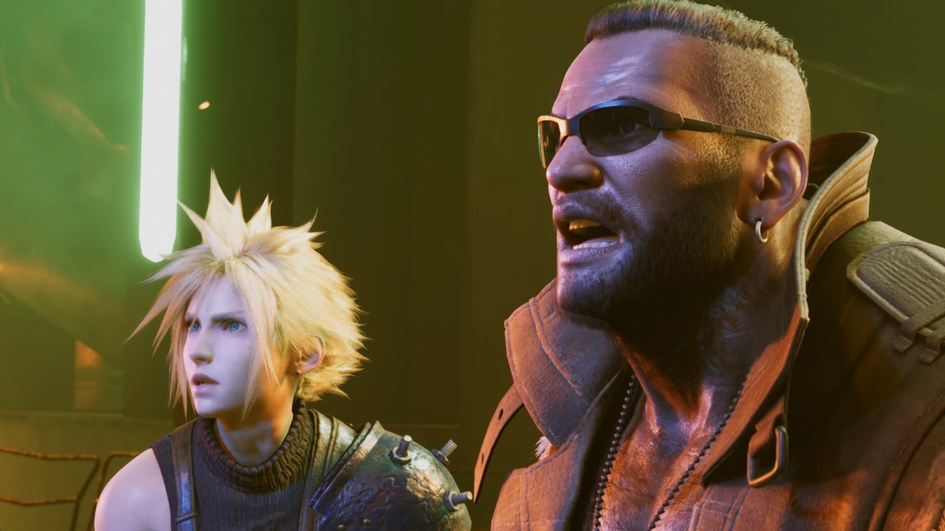 Final Fantasy VII Remake Cloud and Barret