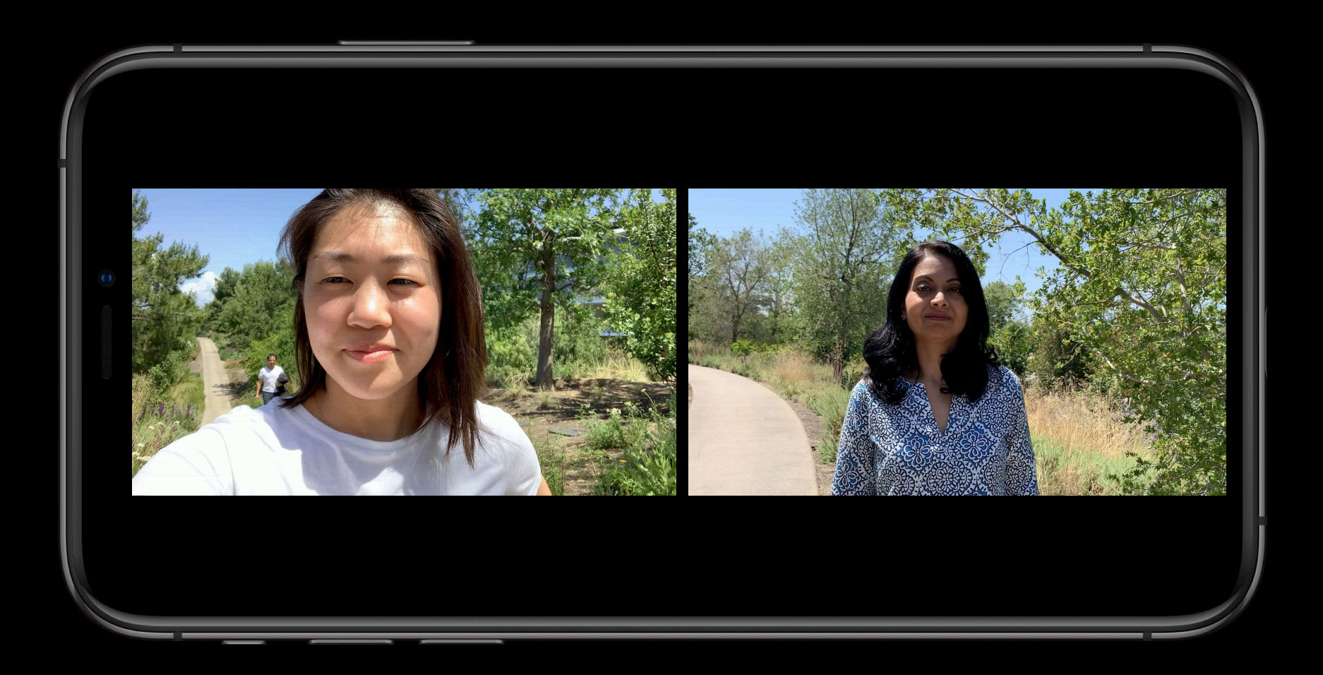 iOS 13 front and back camera shots