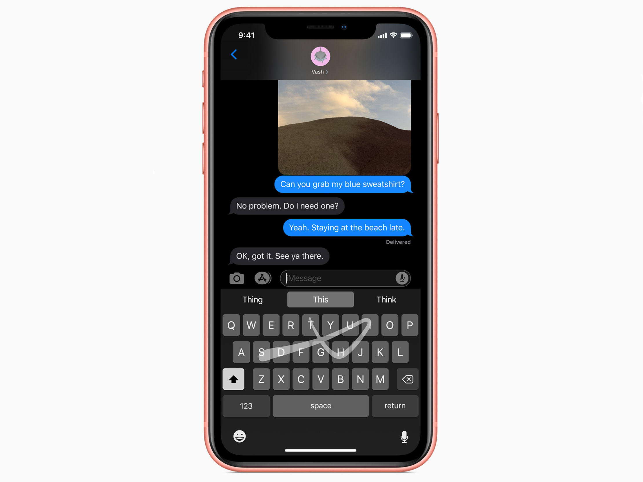 iOS 13 Quickpath typing