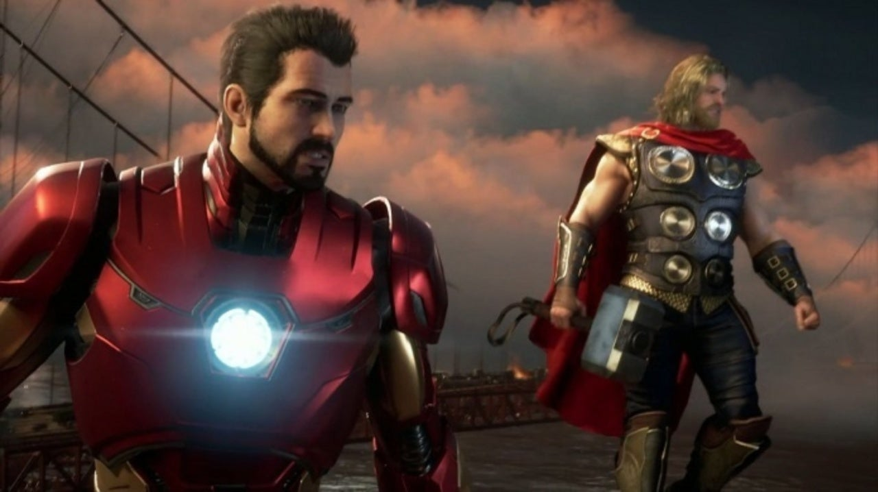 Marvel's Avengers Iron Man and Thor