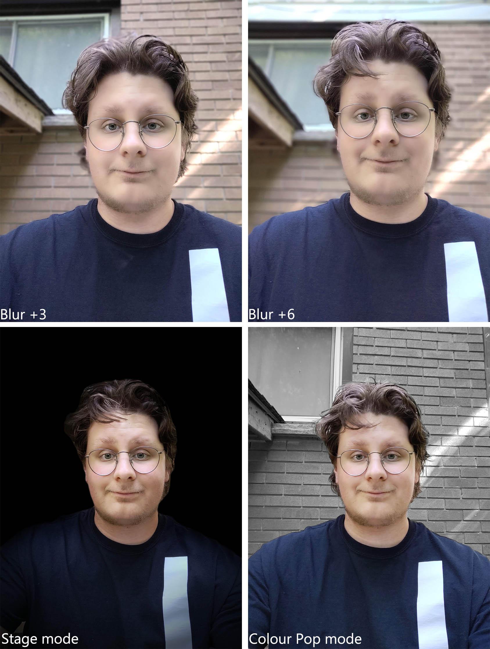 Moto Z4 portrait mode effects