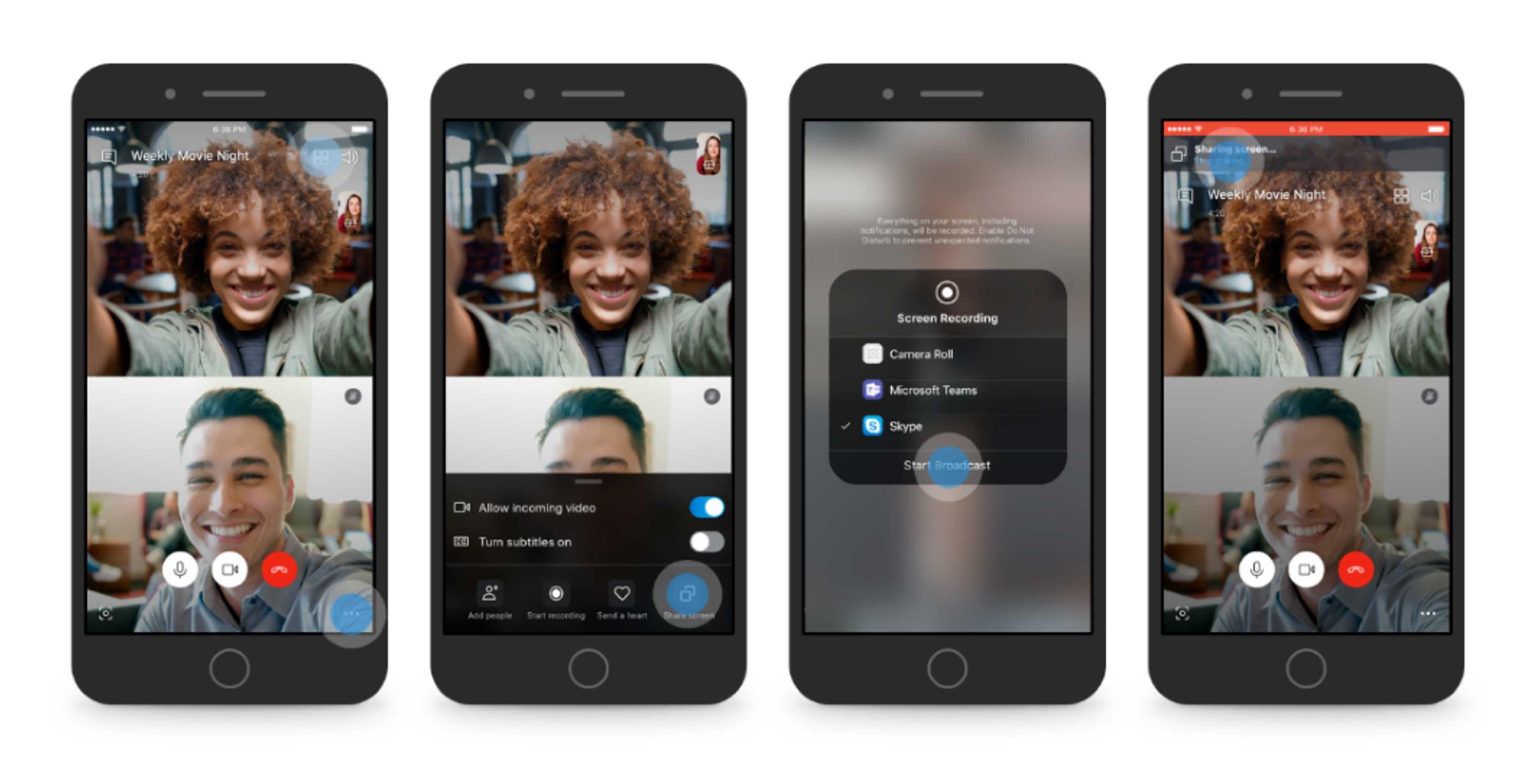 Skype screen sharing on mobile