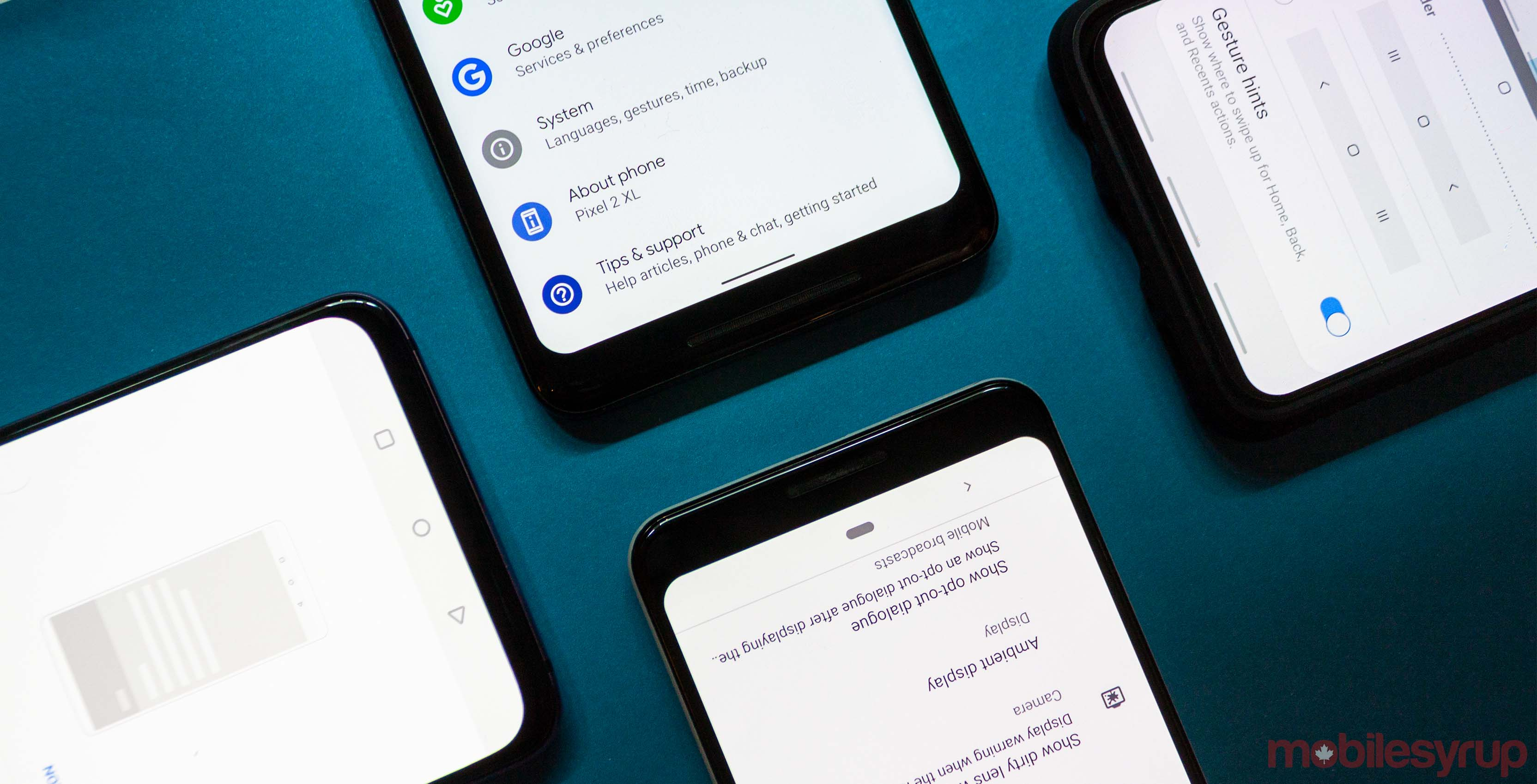 Android gesture navigation systems