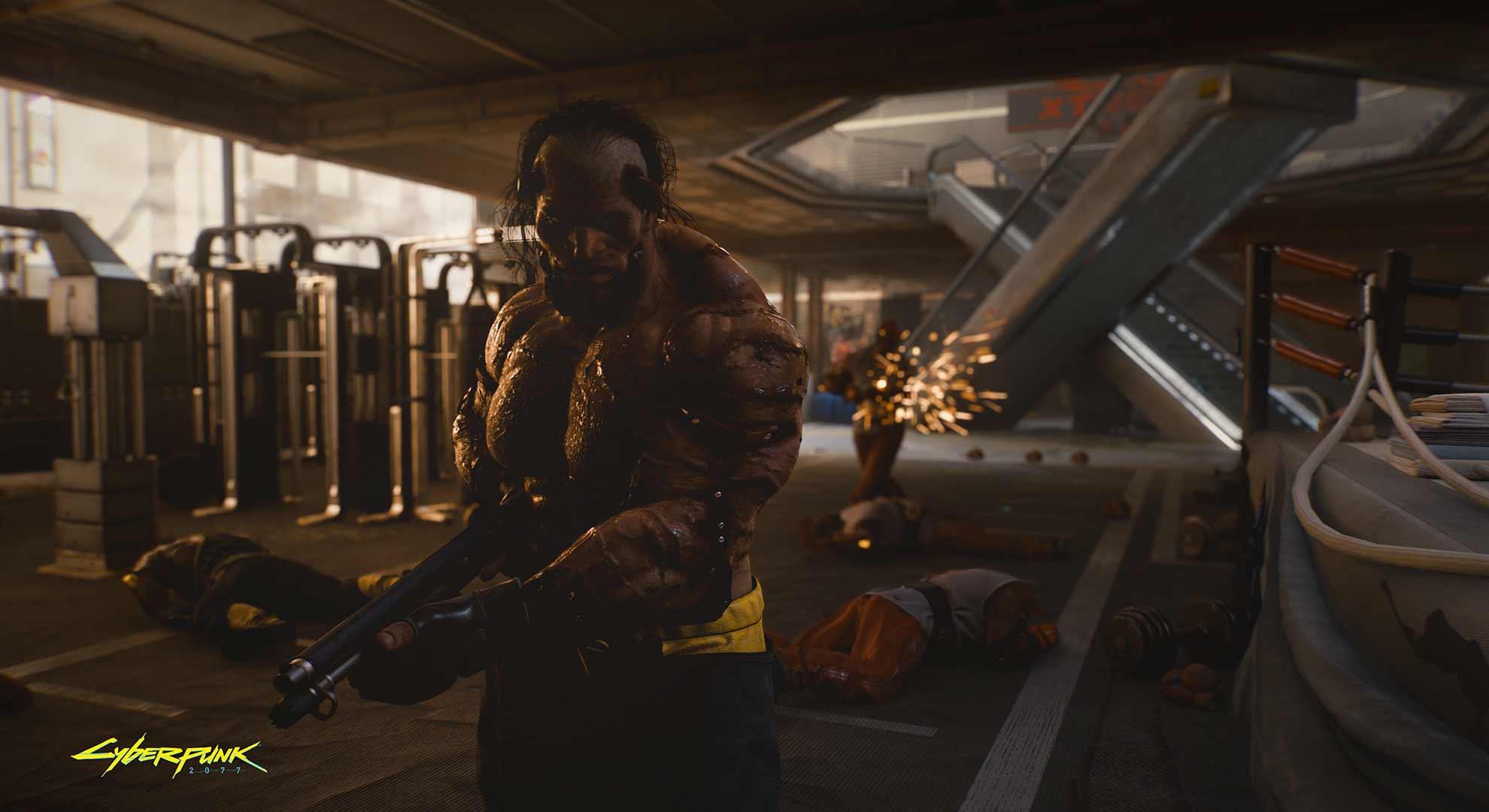 Cyberpunk 2077 weight lifter