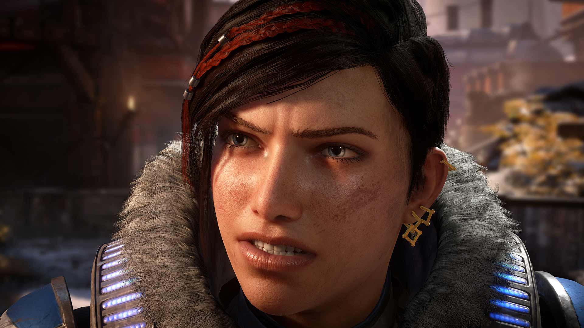 Gears 5 Kait close-up