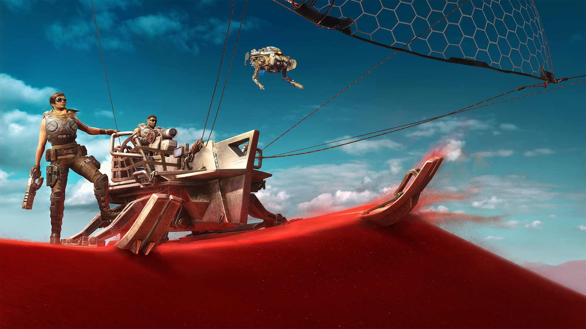Gears 5 skiff