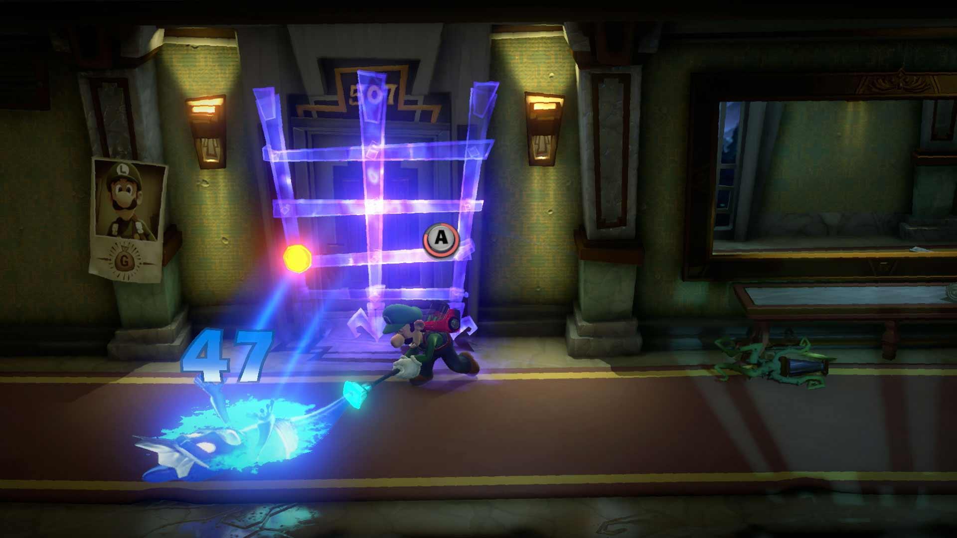 Luigi's Mansion 3 sucking ghost