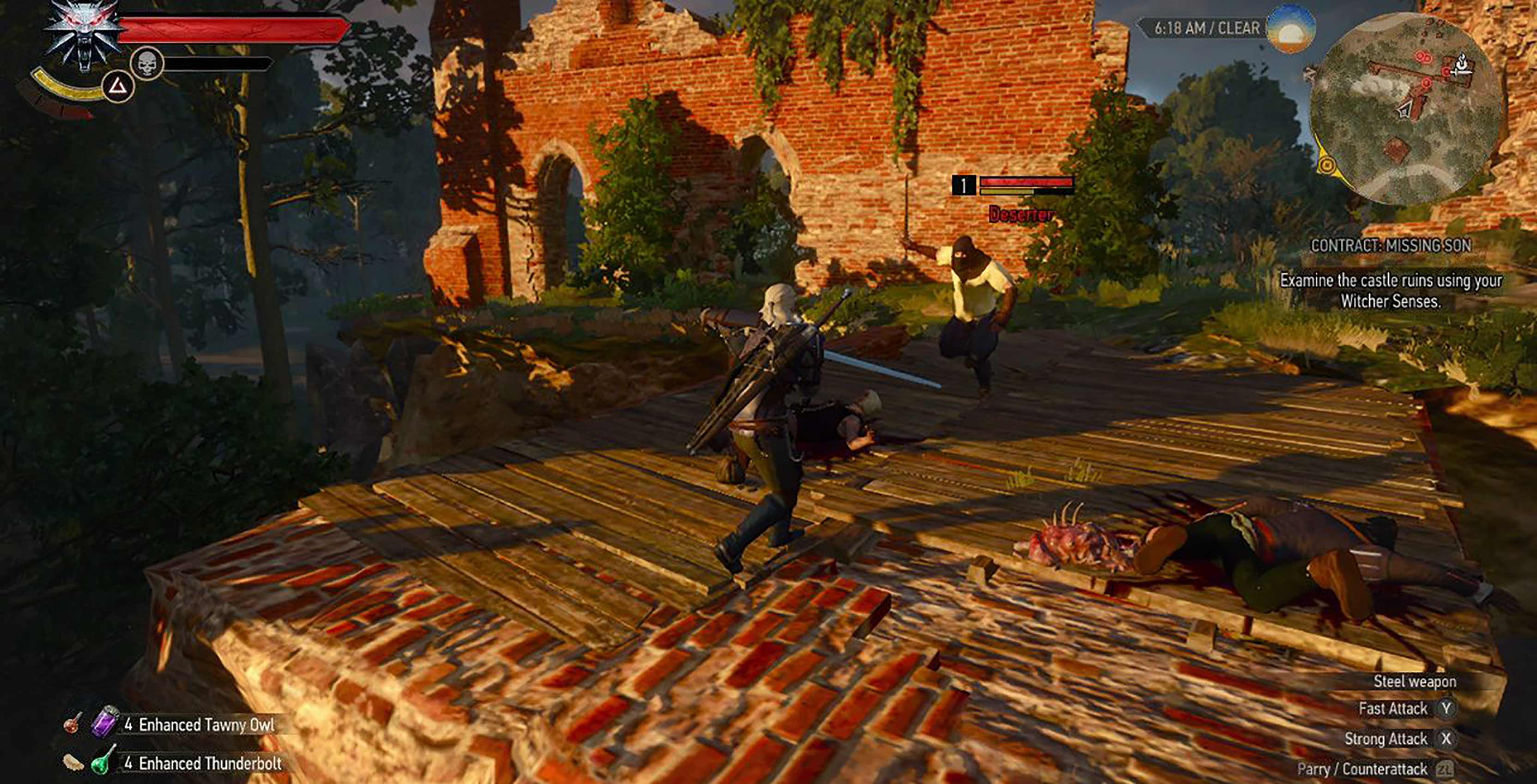 The Witcher 3 combat