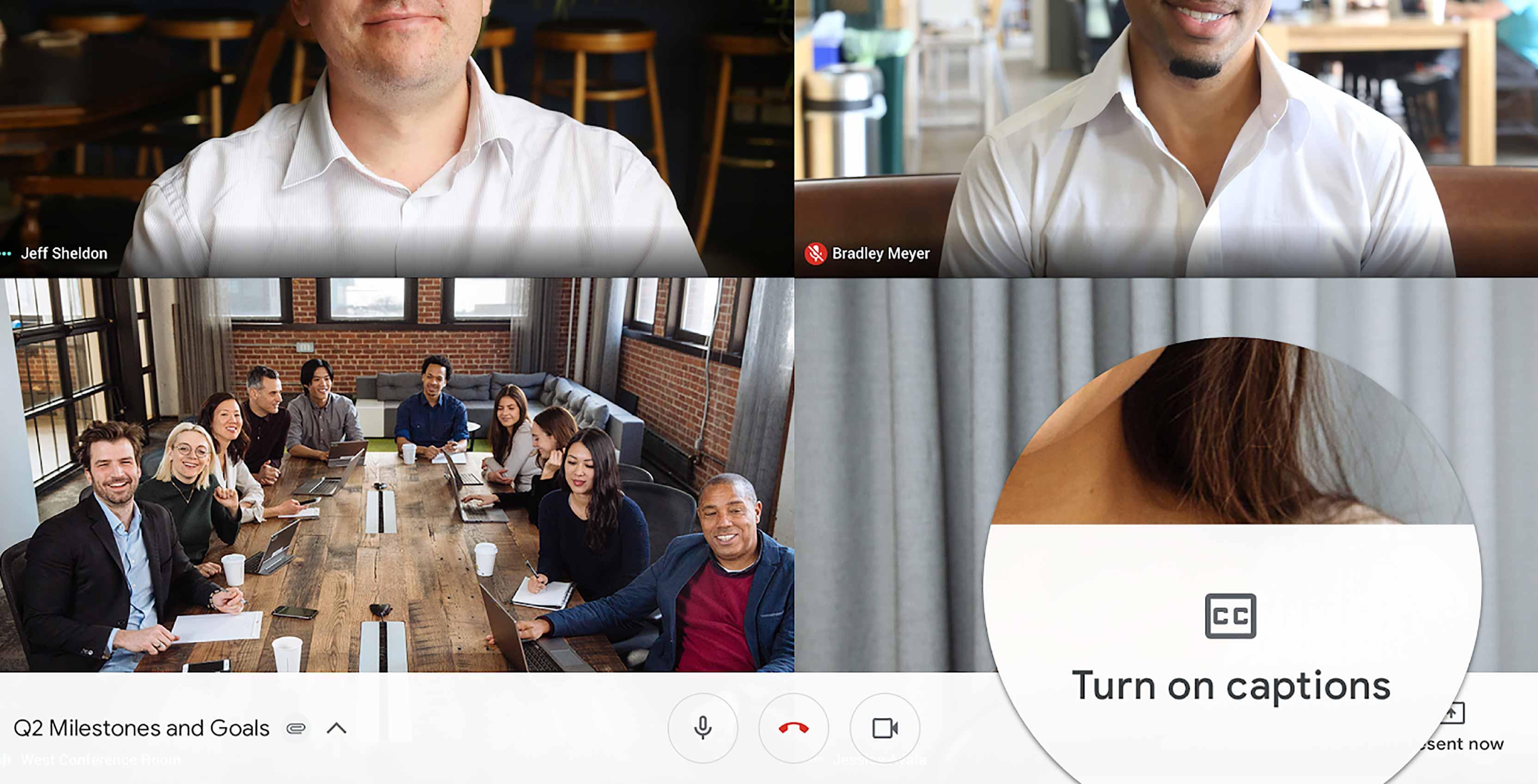 Google Hangouts Meet Live Captions