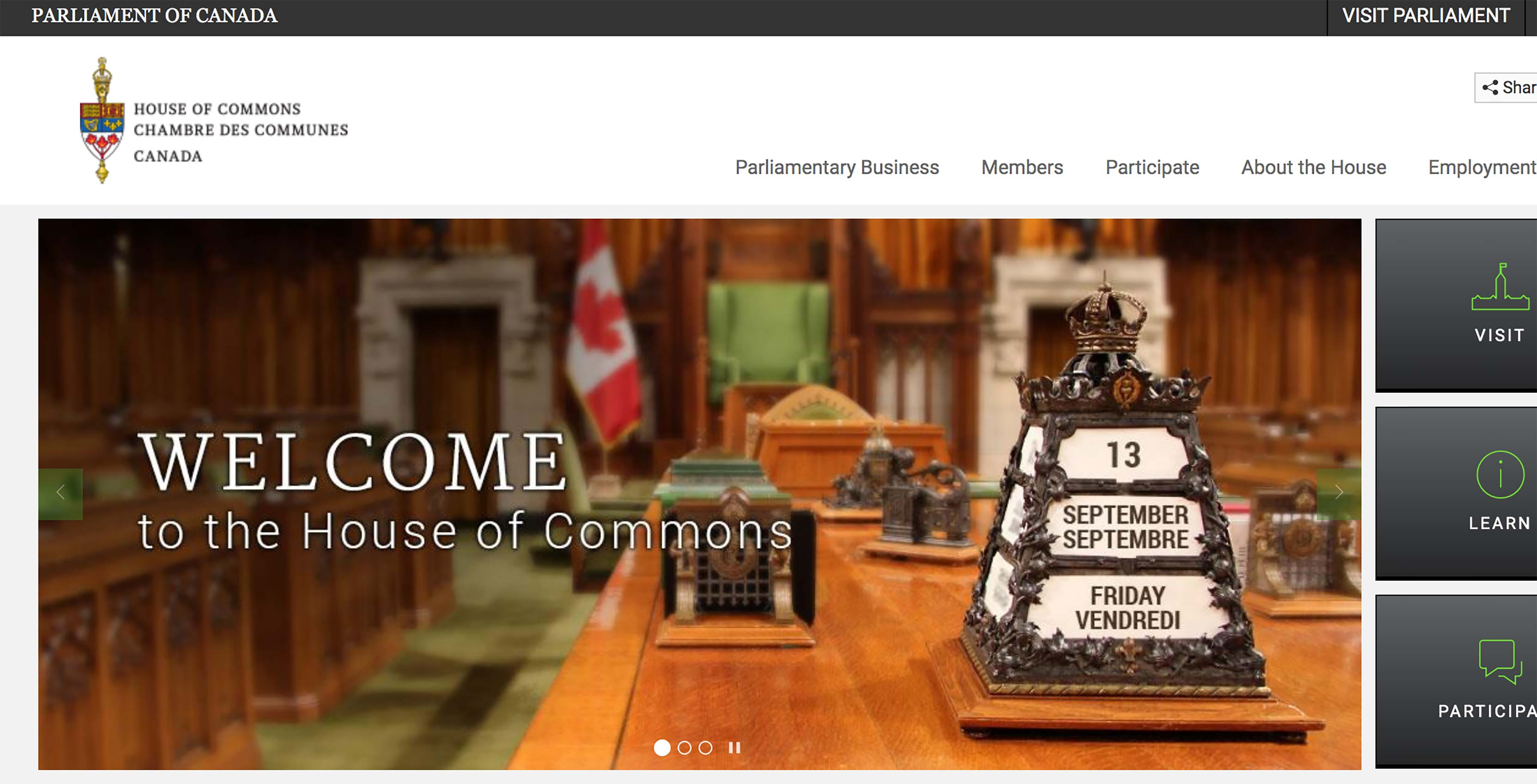 House of Commons website