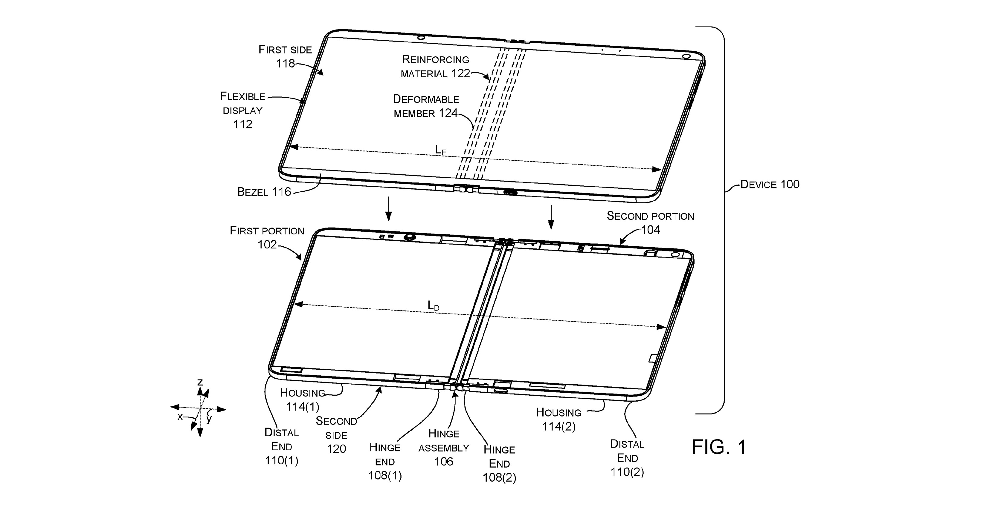 Surface hinge patent