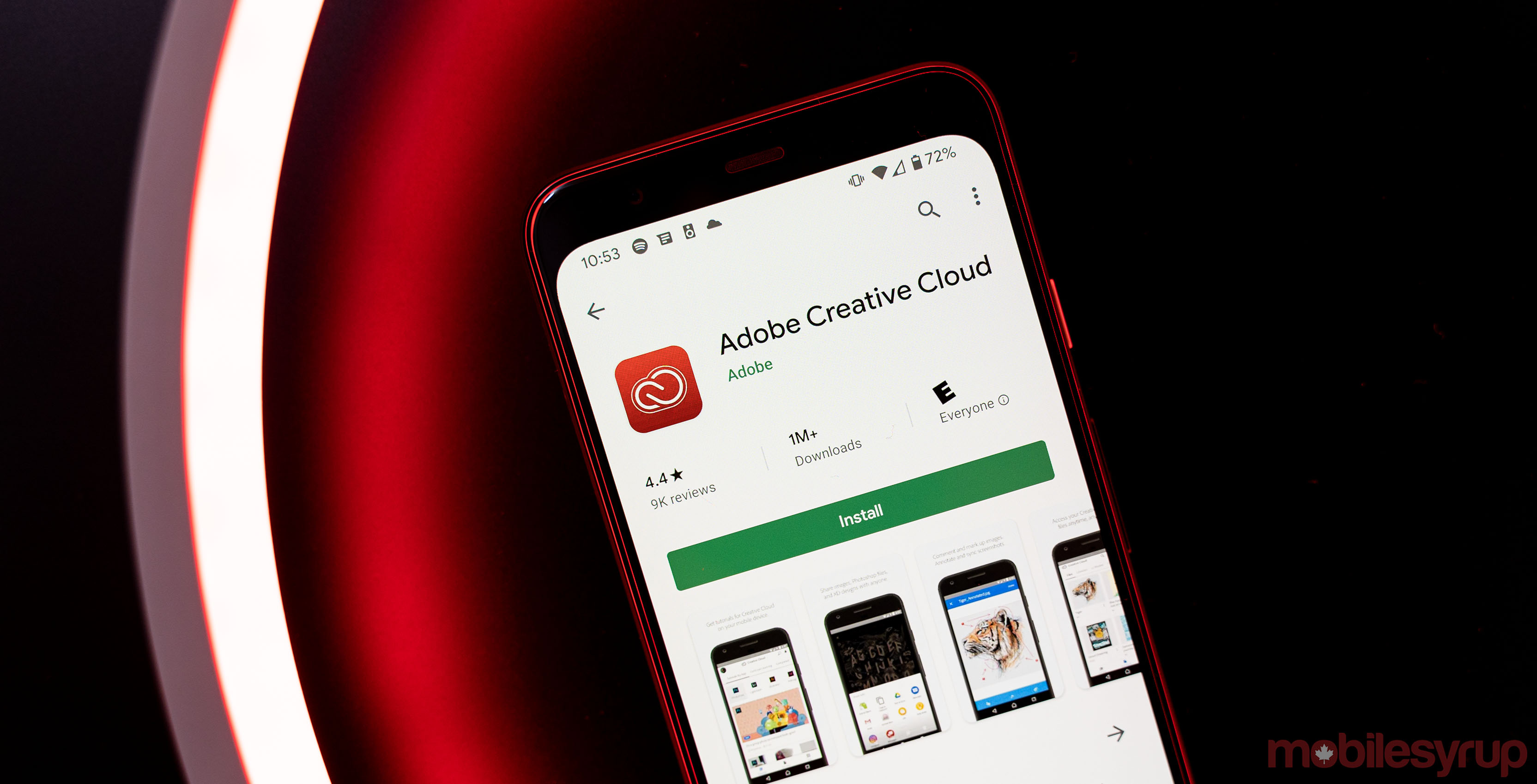 Adobe Creative Cloud app on Android