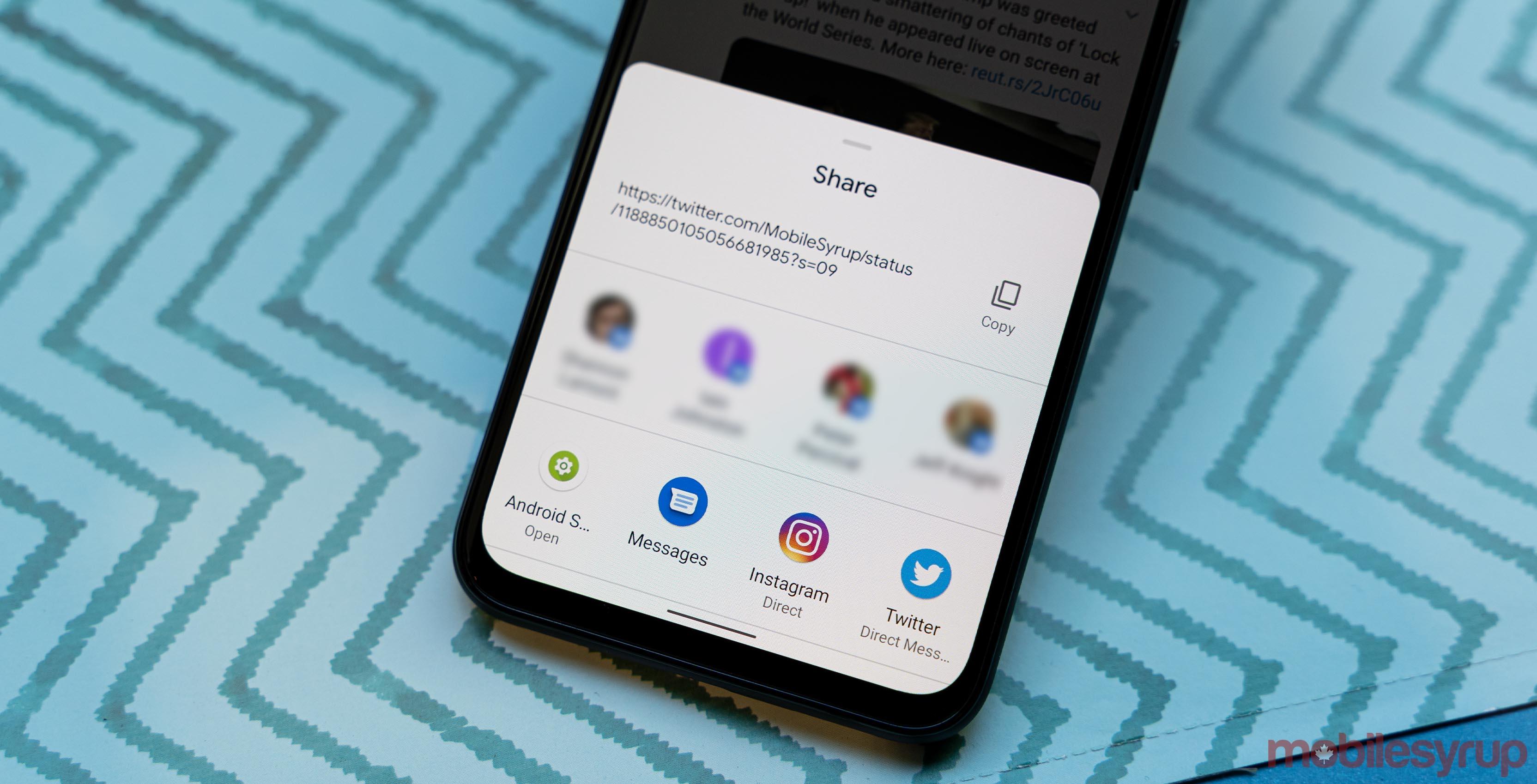 Android 10 Sharesheet