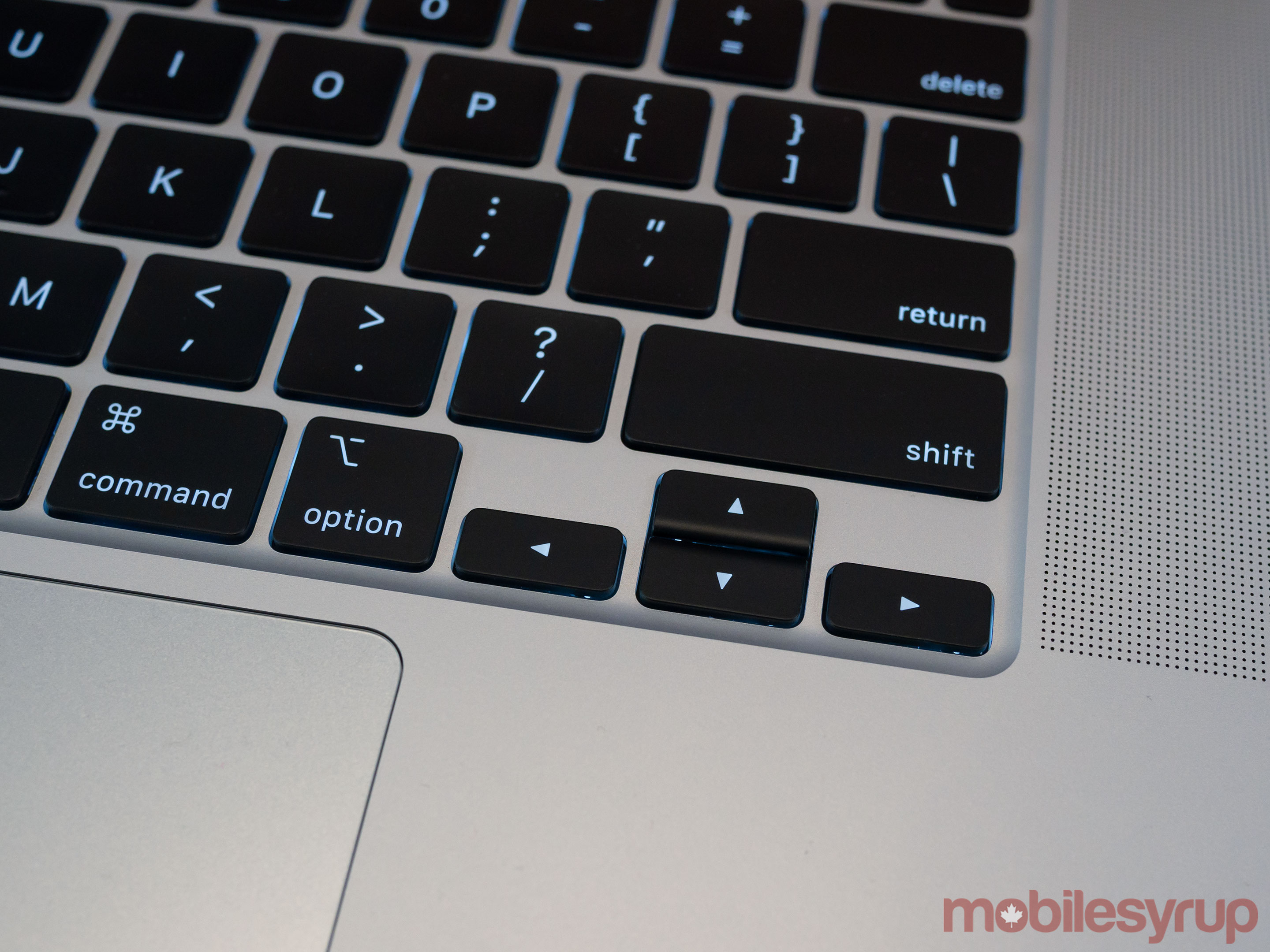 16-inch MacBook Pro arrow keys