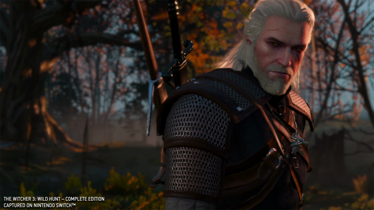 The Witcher 3 Switch Geralt