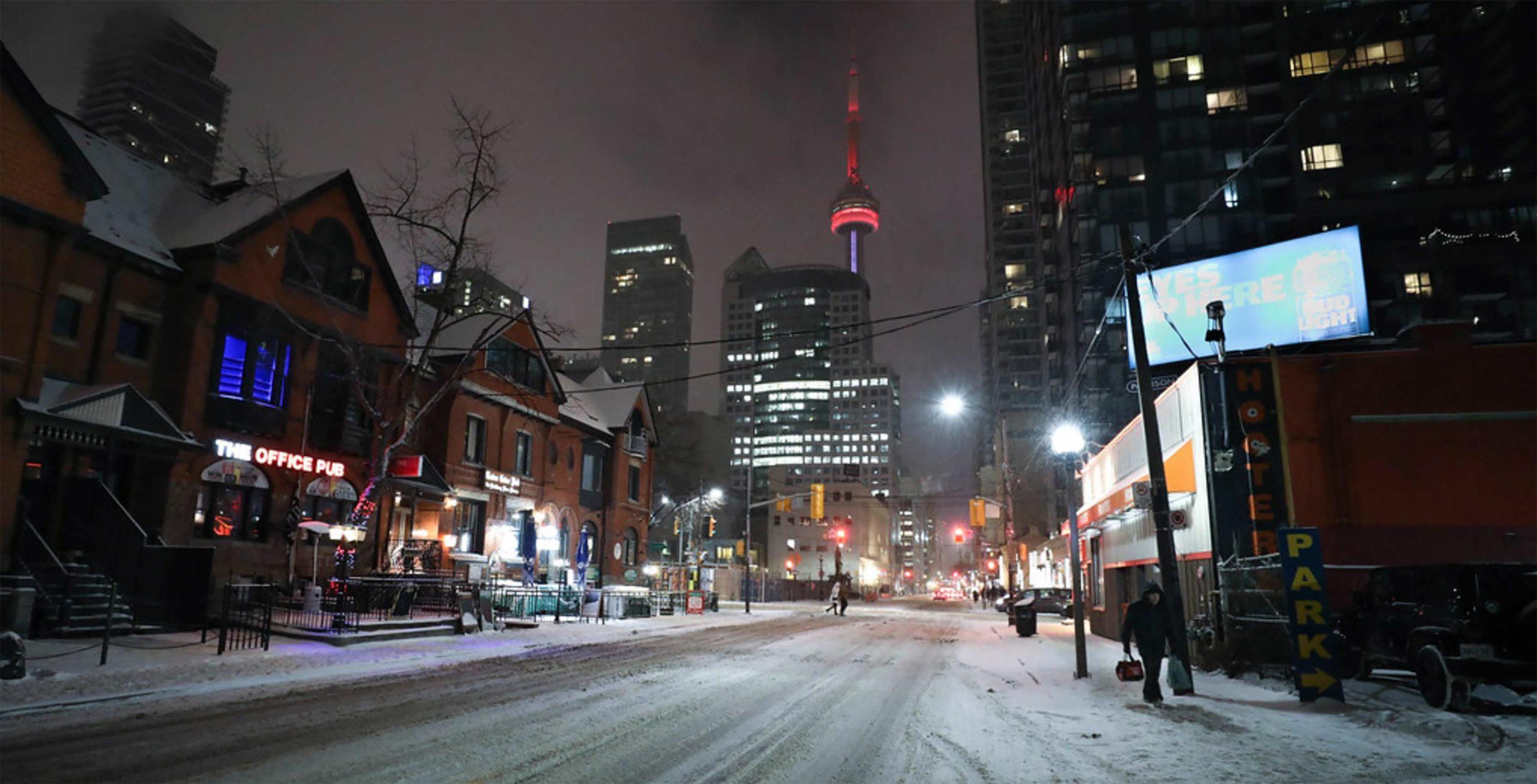 Toronto in the winter
