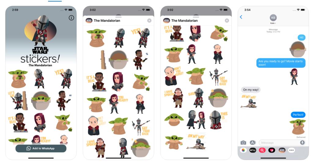 The Mandalorian iOS sticker