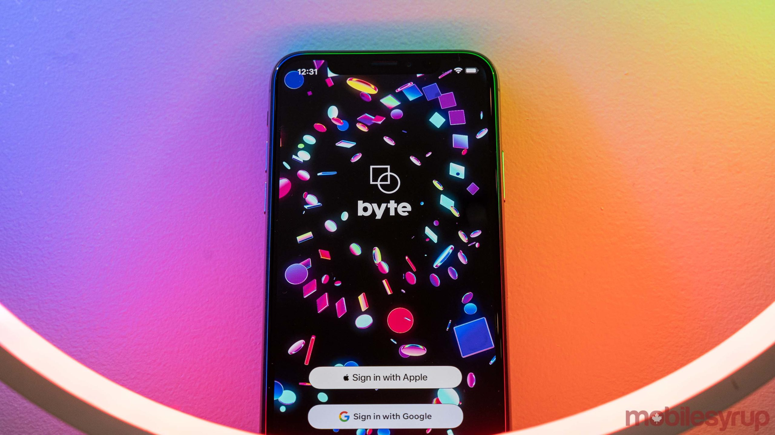 Byte app on iOS