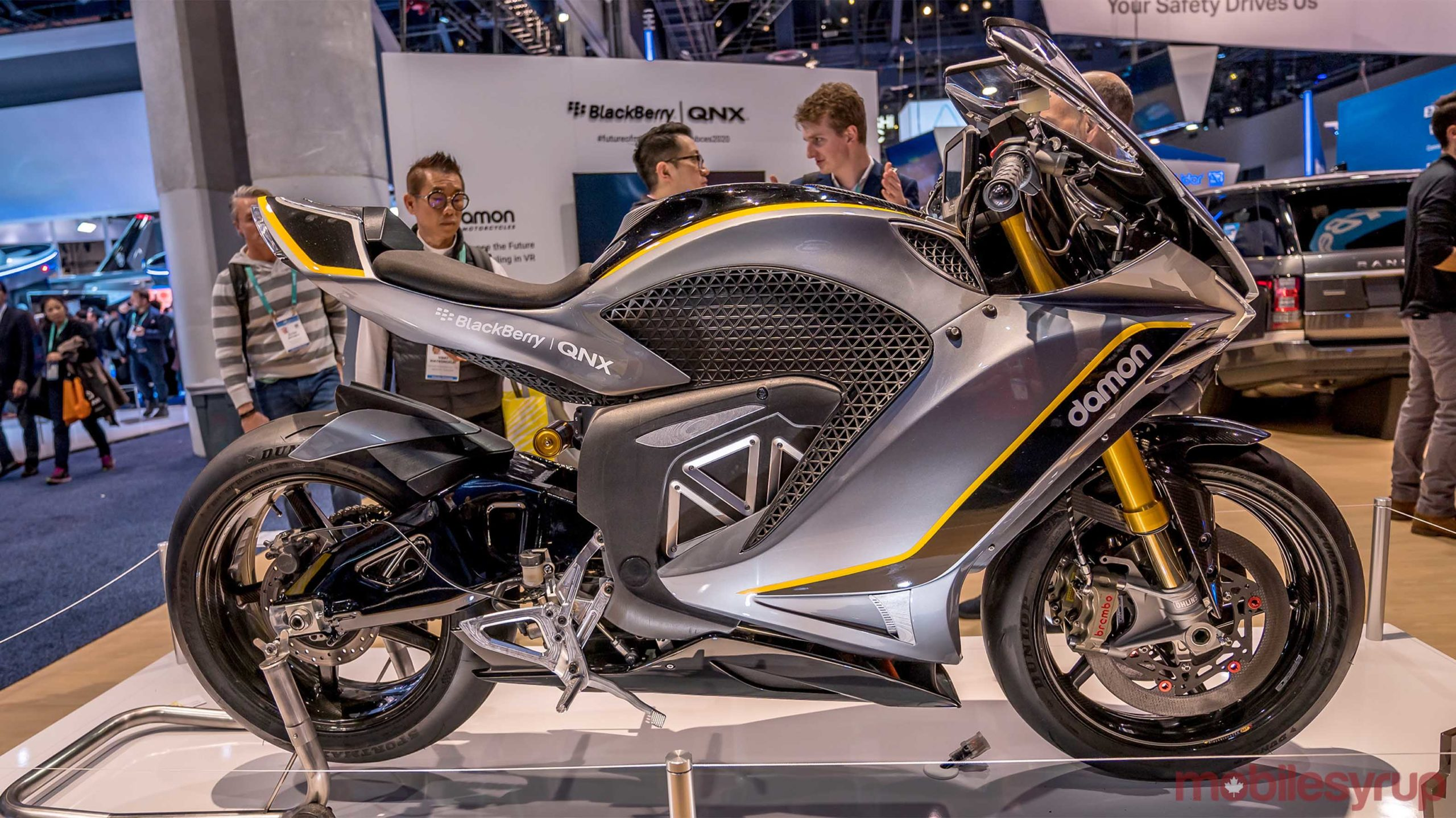 Damon Hypersport Pro at BlackBerry CES 2020 booth