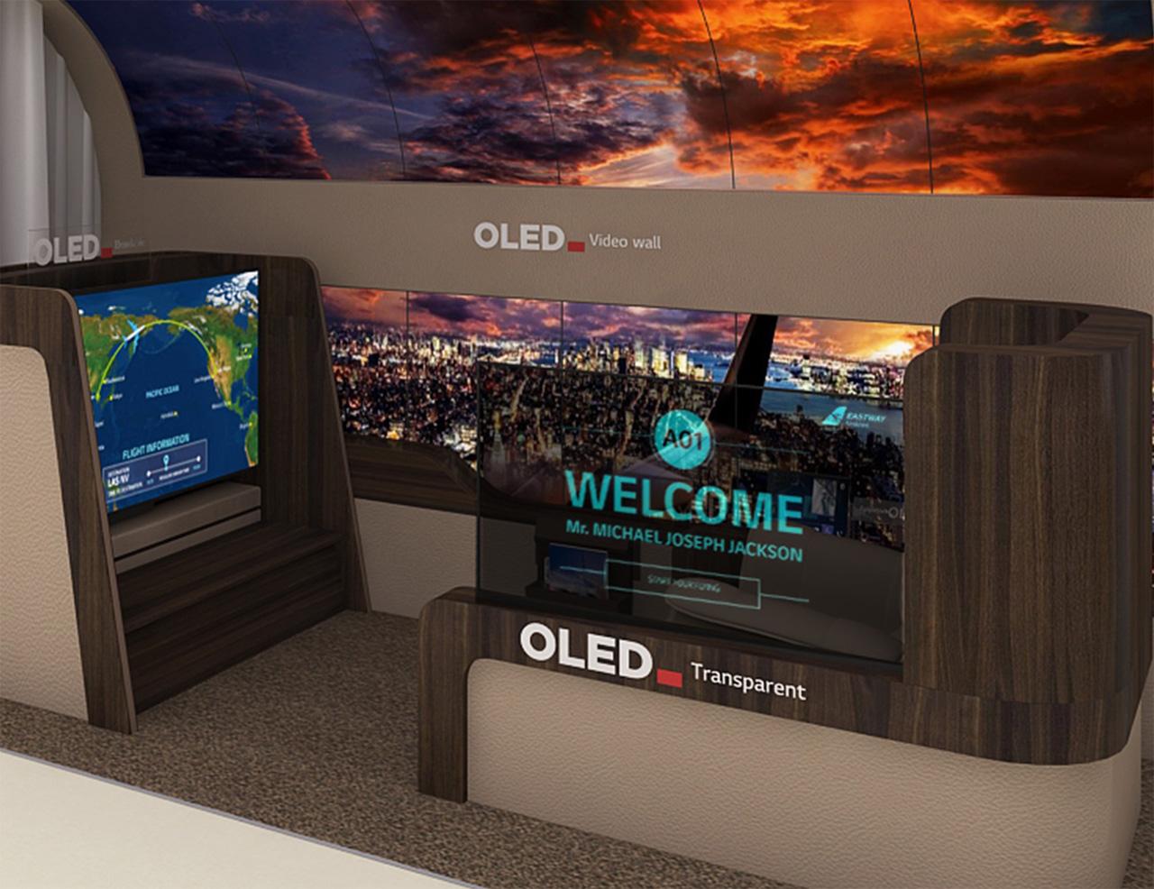 LG Display transparent OLED for plane aisles