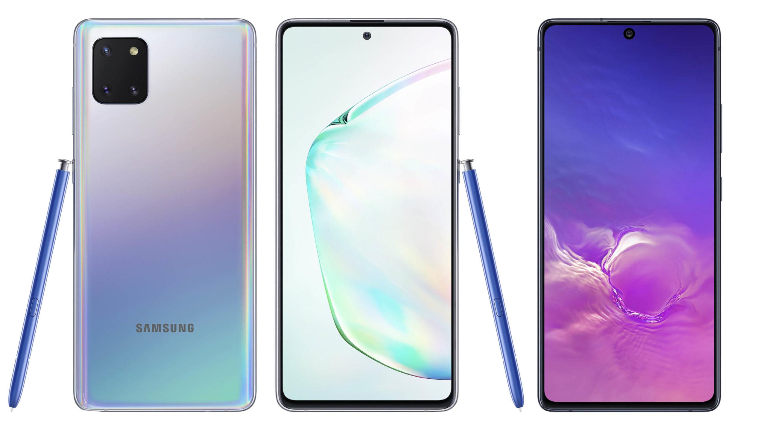Samsung Galaxy Note 10 Lite and S10 Lite
