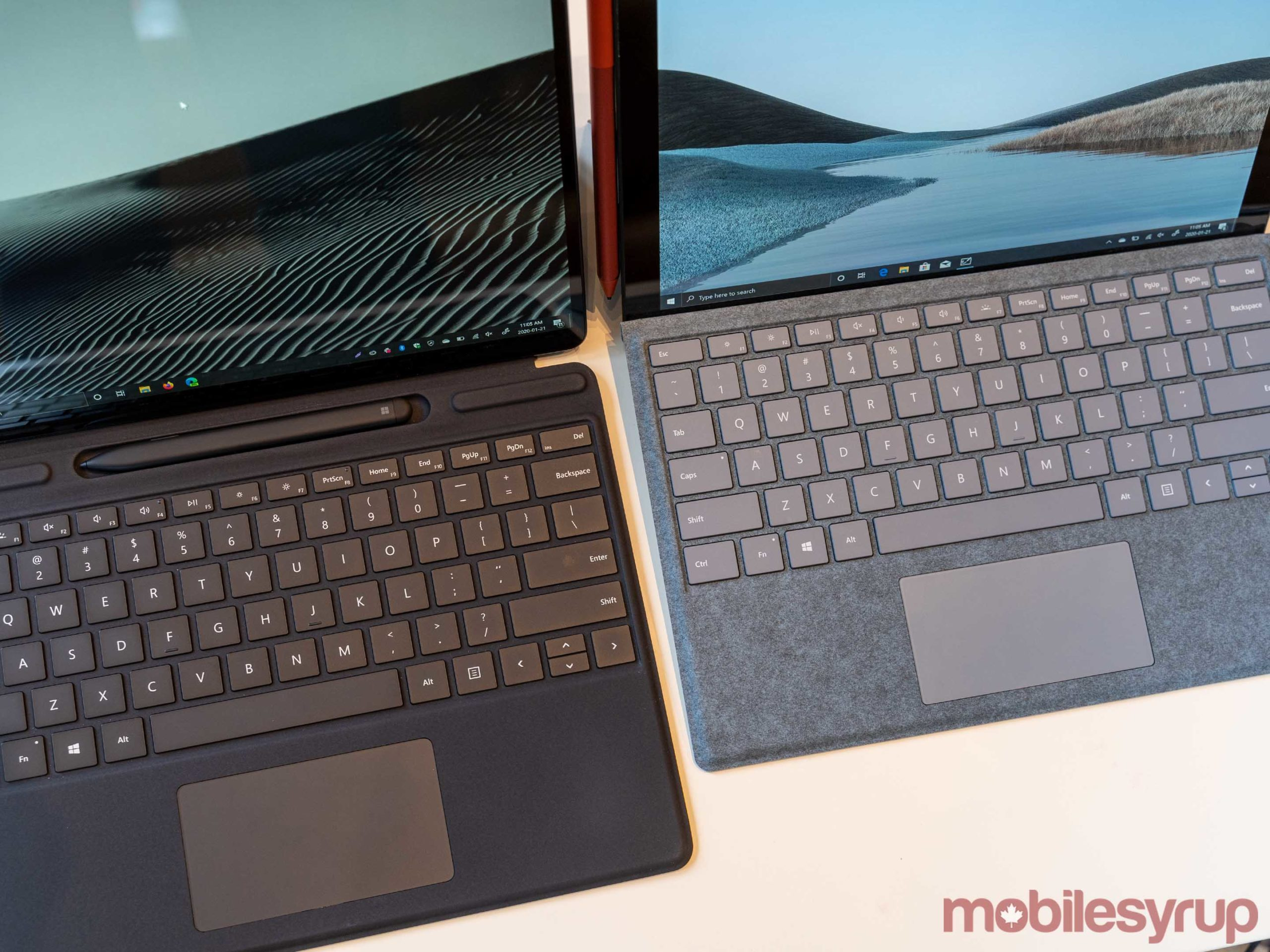 Surface Pro X and Pro 7 keyboard