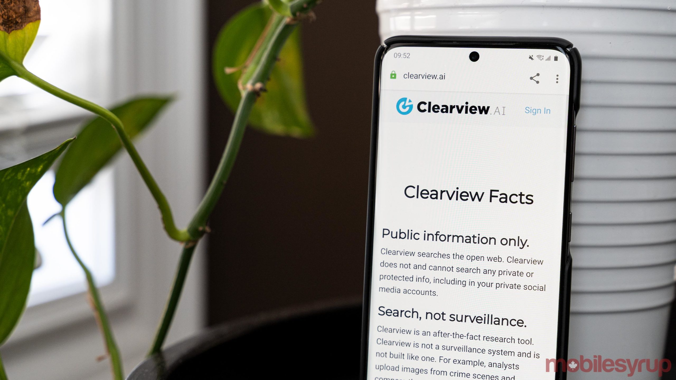 Clearview AI website