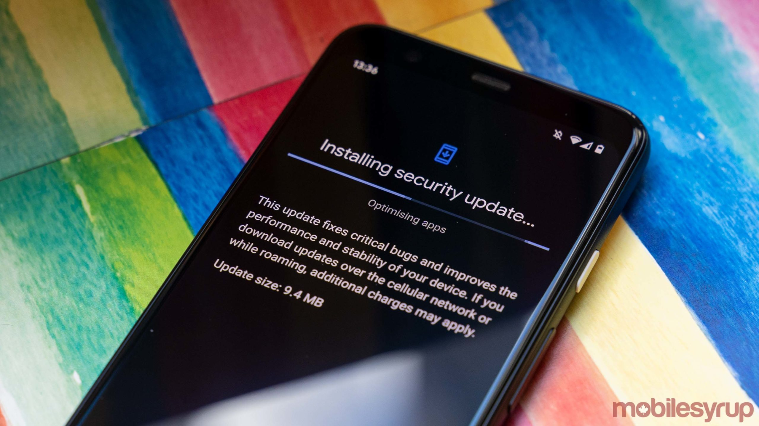 Pixel 4 downloading security patch