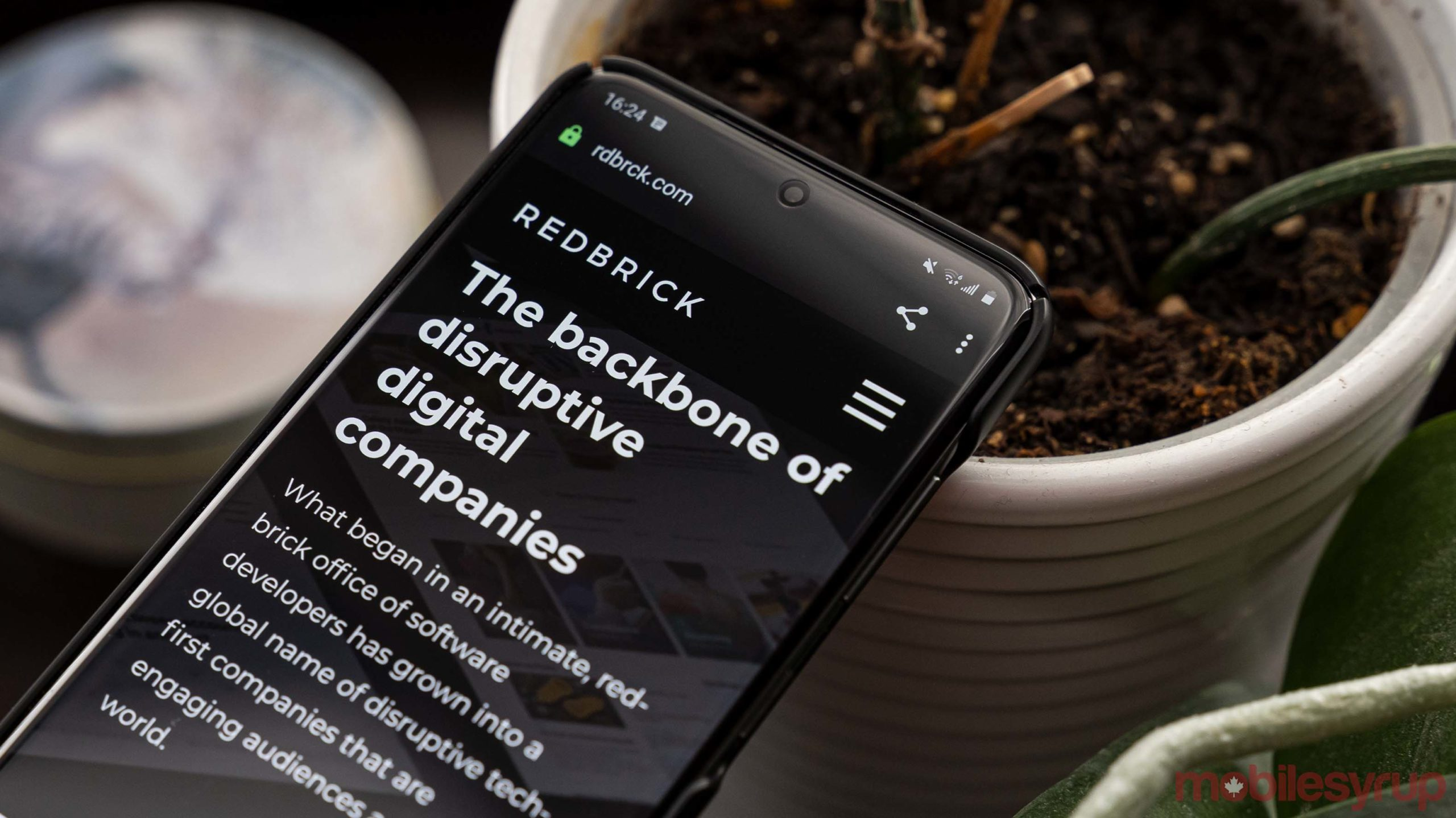 Redbrick website on a phone