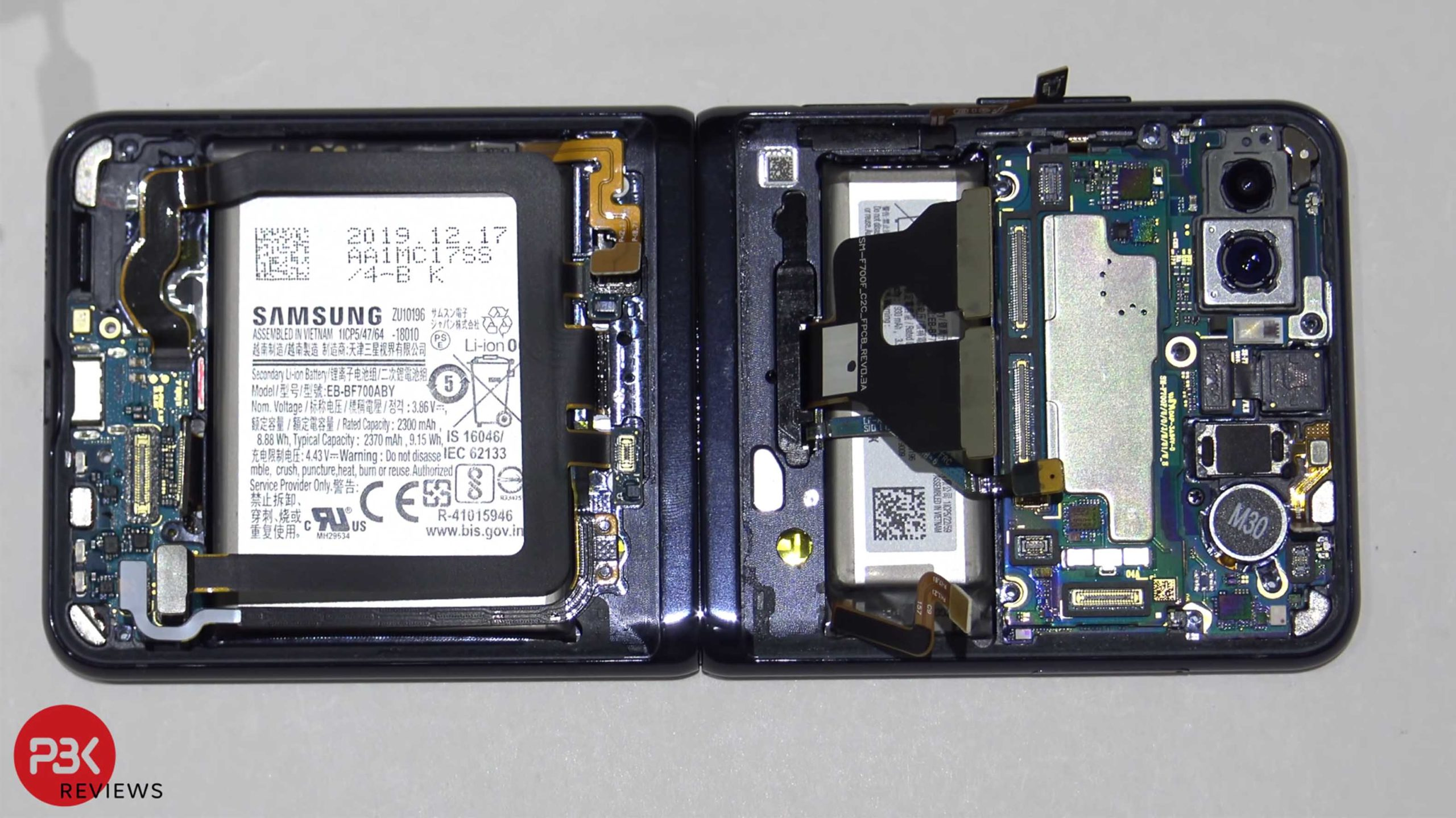 Inside of the Samsung Galaxy Z Flip