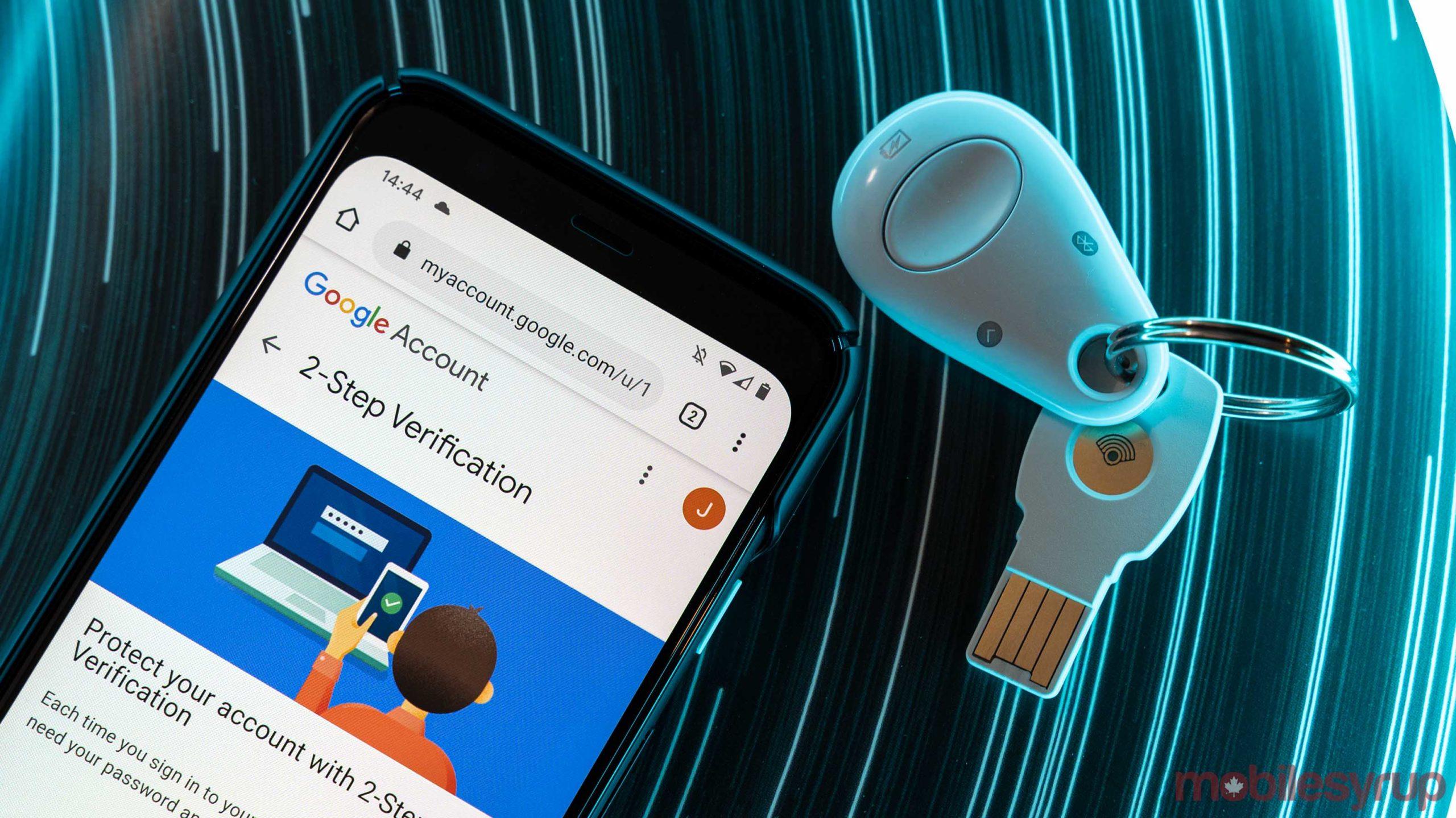 Pixel 4 and Google Titan security key