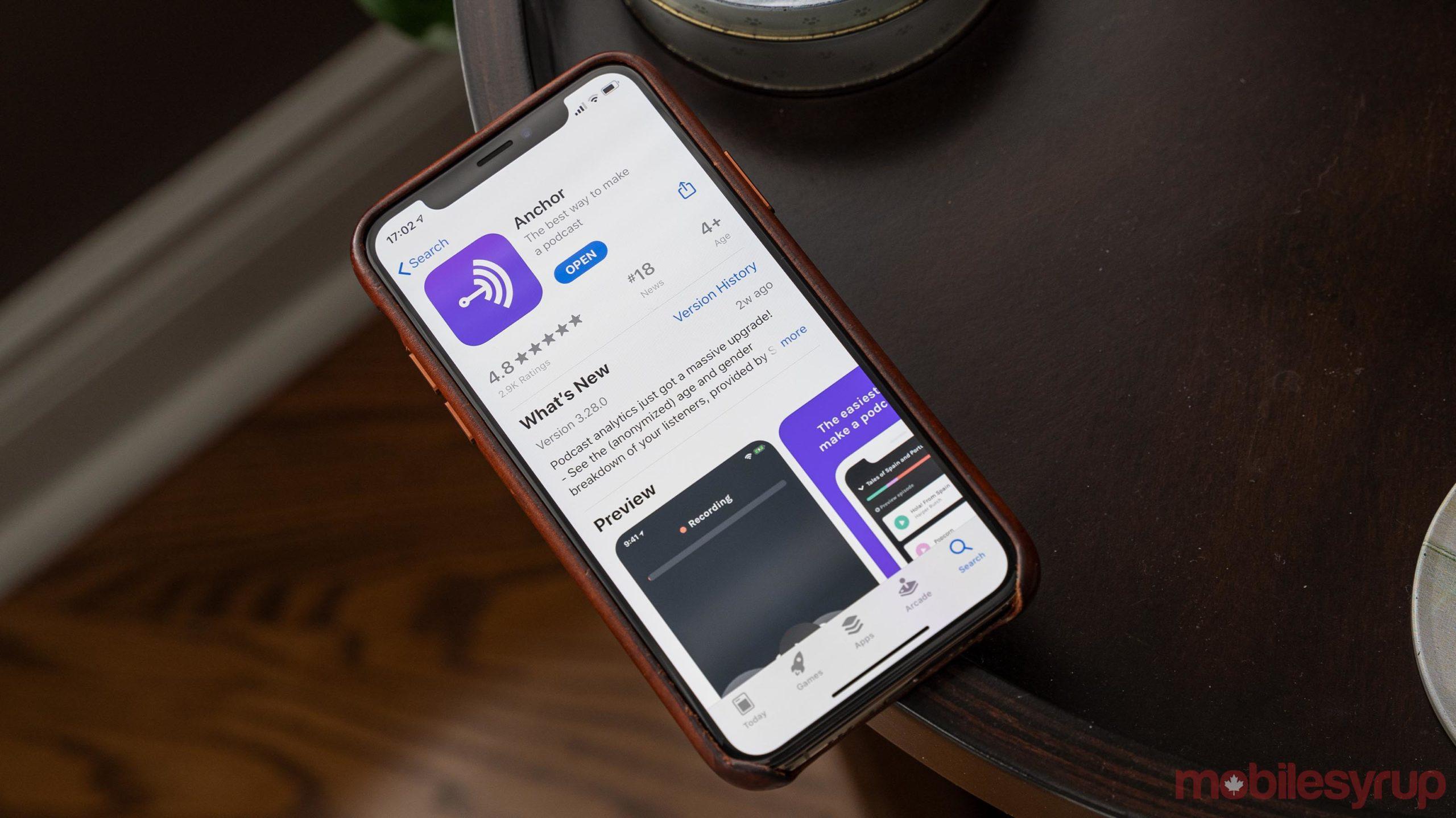 Anchor app on iOS