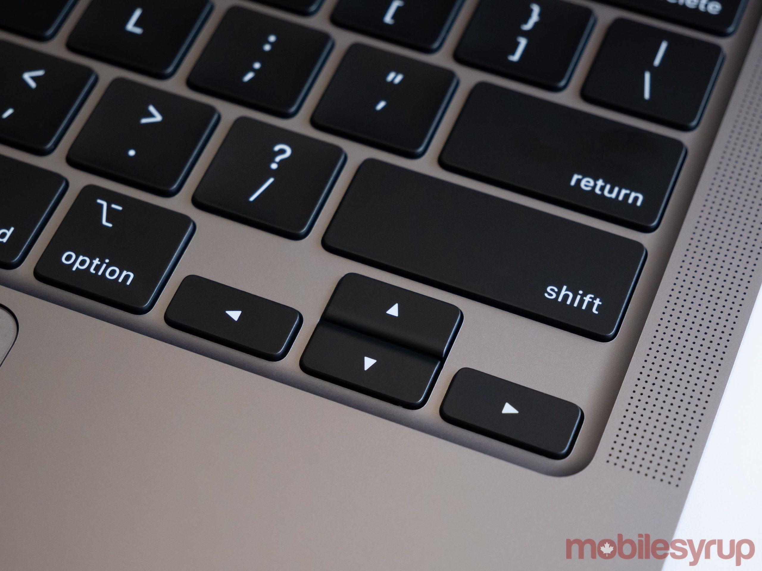 MacBook Pro arrow keys