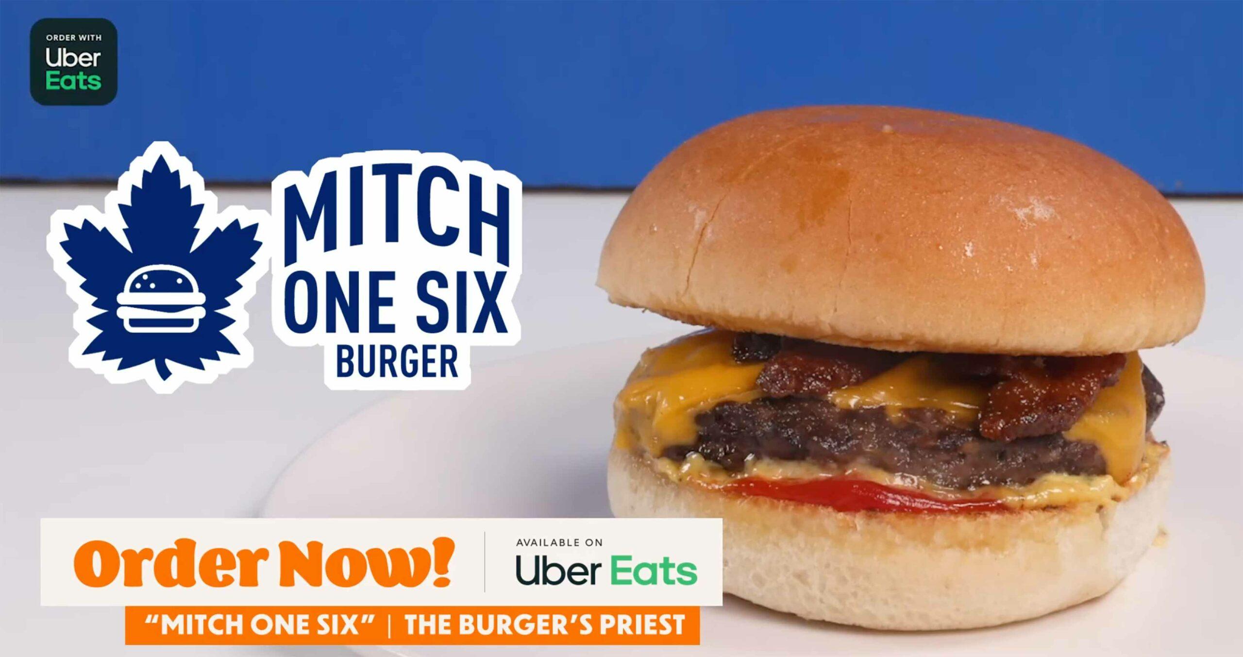 Uber Eats Mitch Marner burger