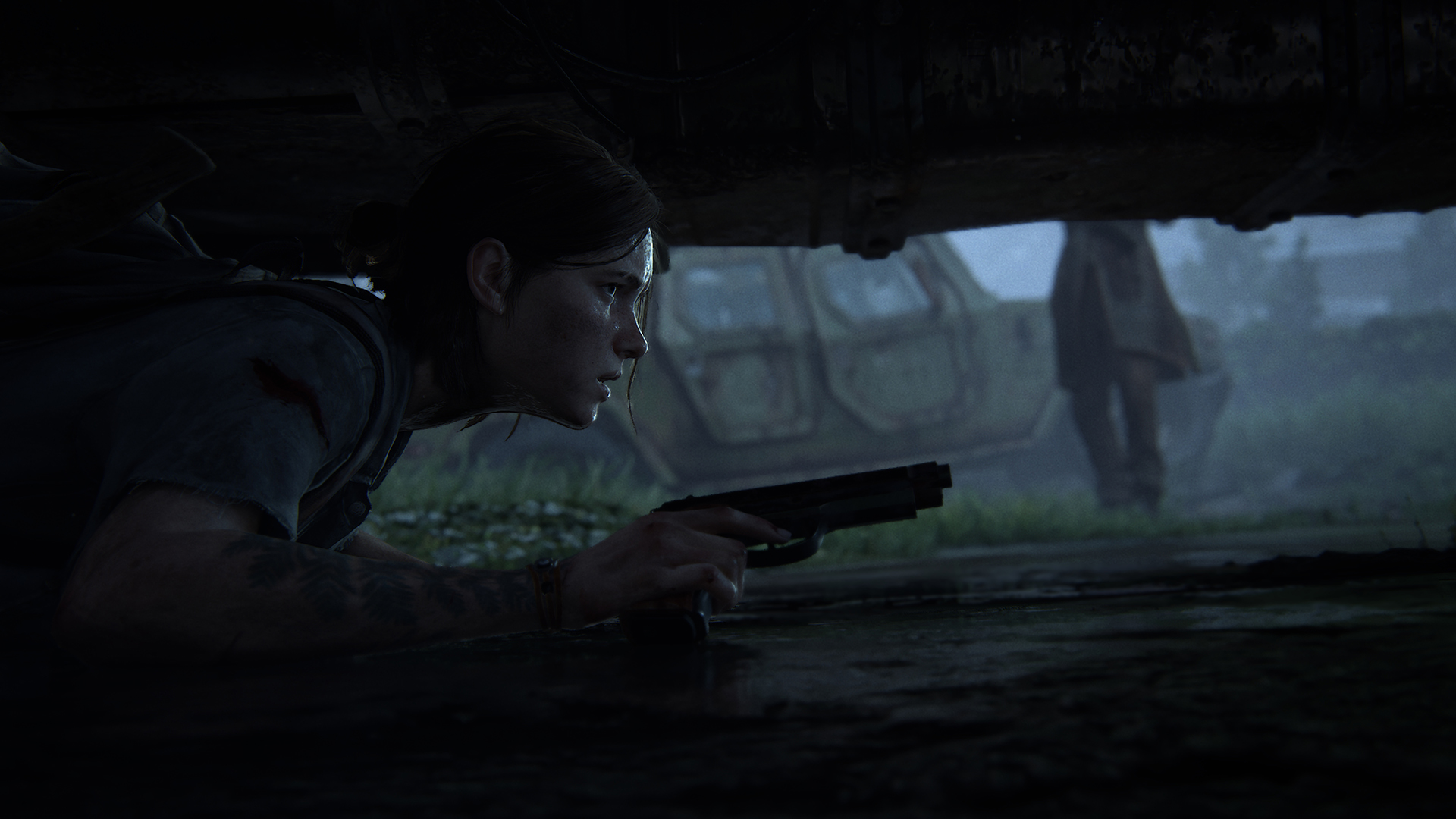 The Last of Us Part II Ellie prone