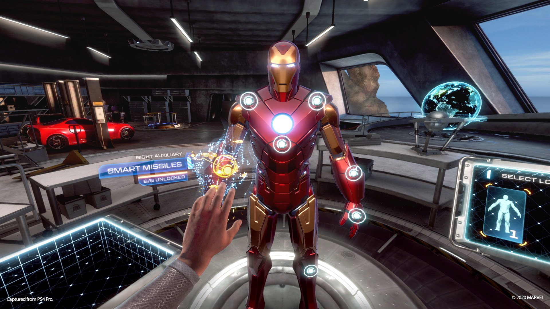 Marvel's Iron Man VR suit station