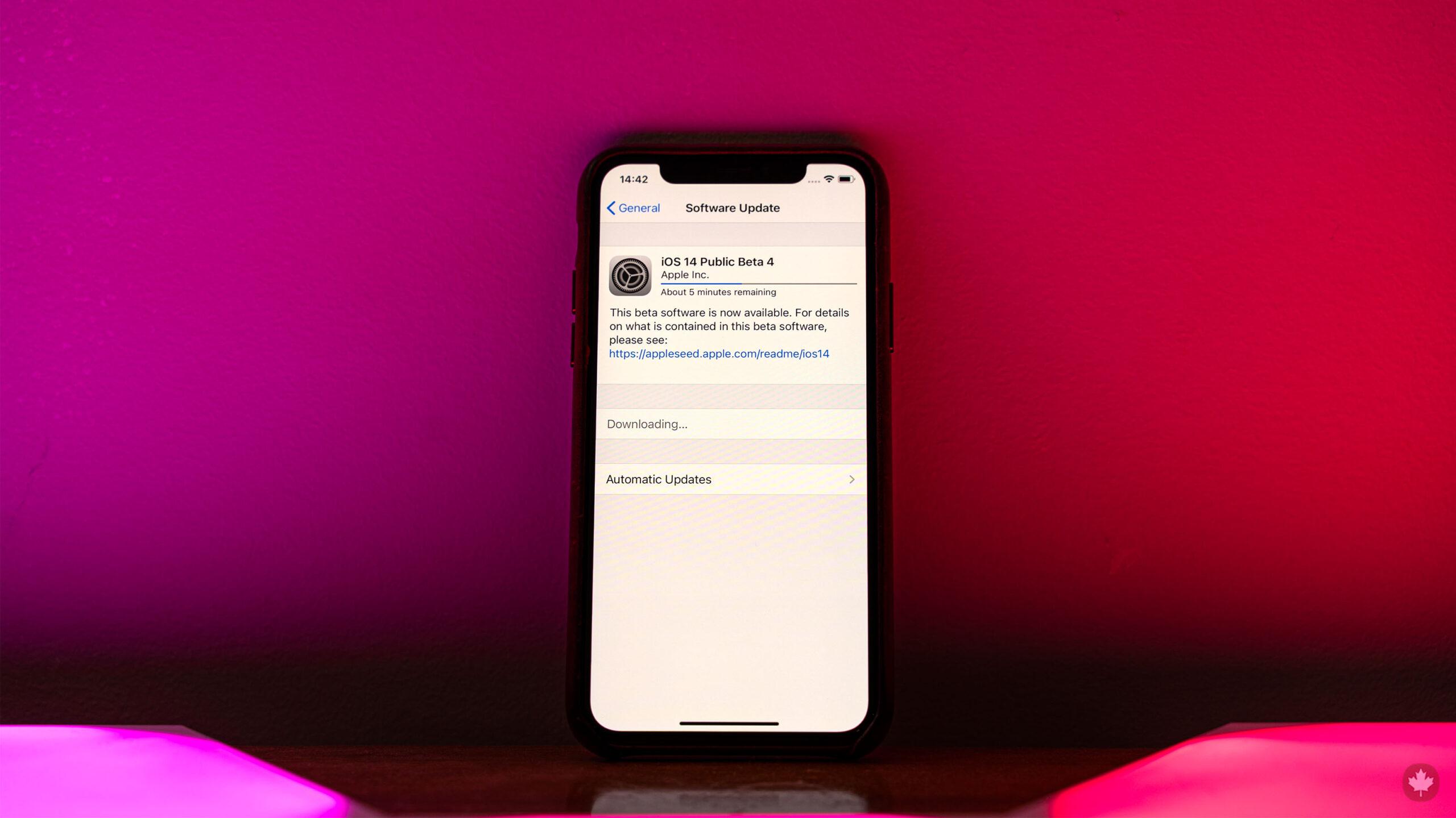 iOS 14 Publice Beta 4