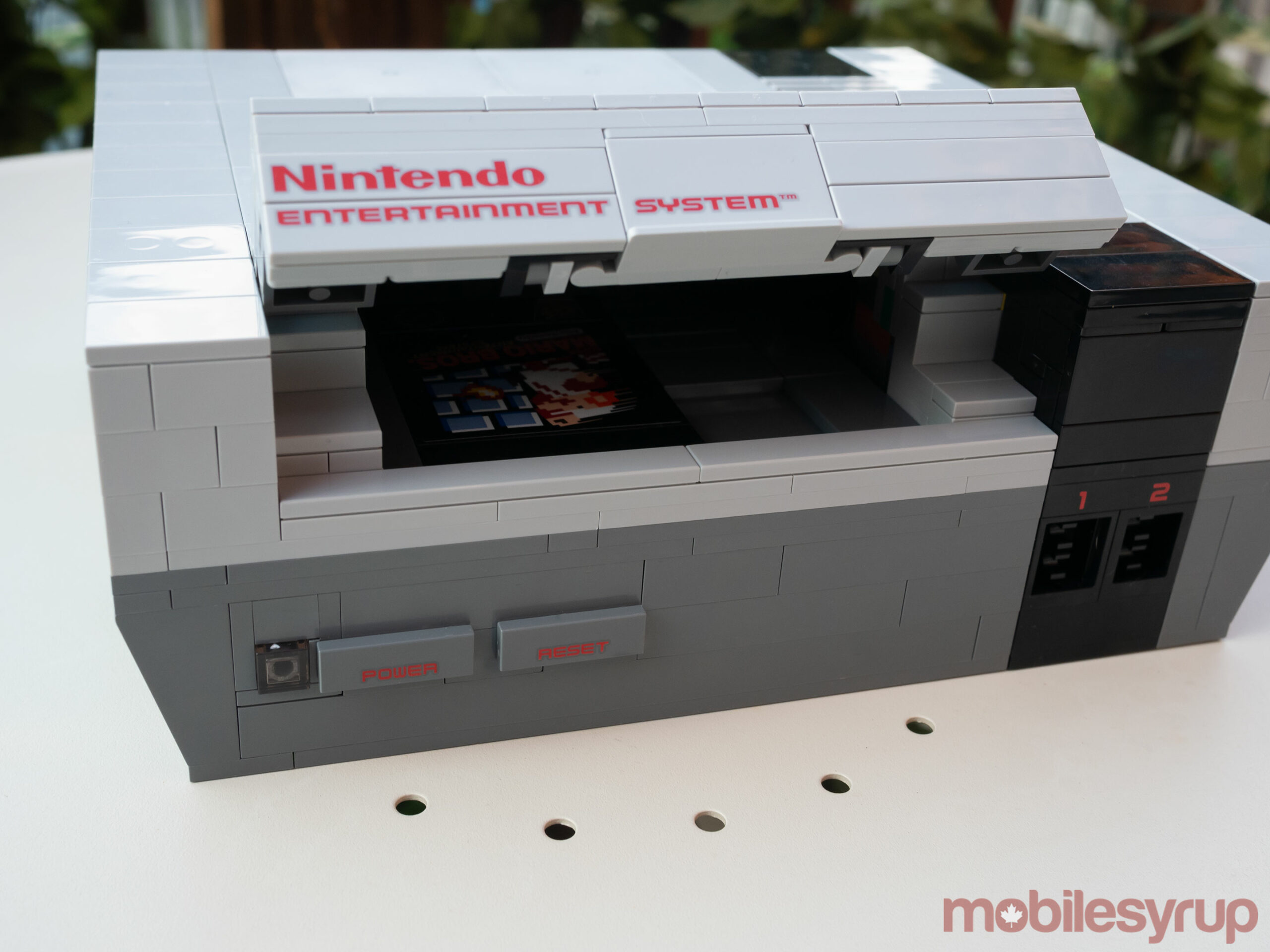 NES Lego with cartridge slot open