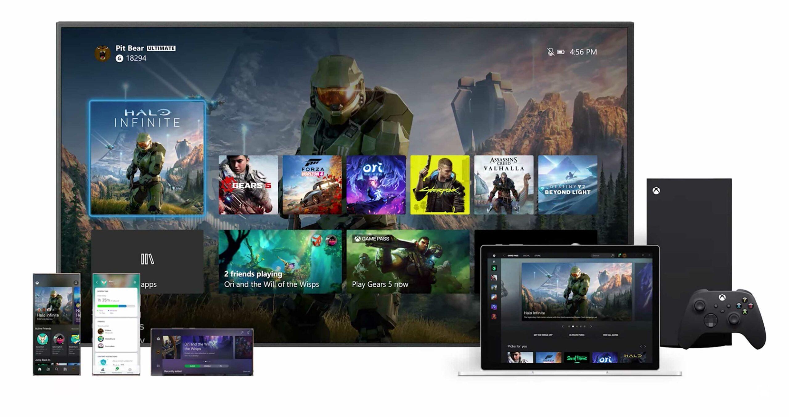 Xbox Series X dashboard