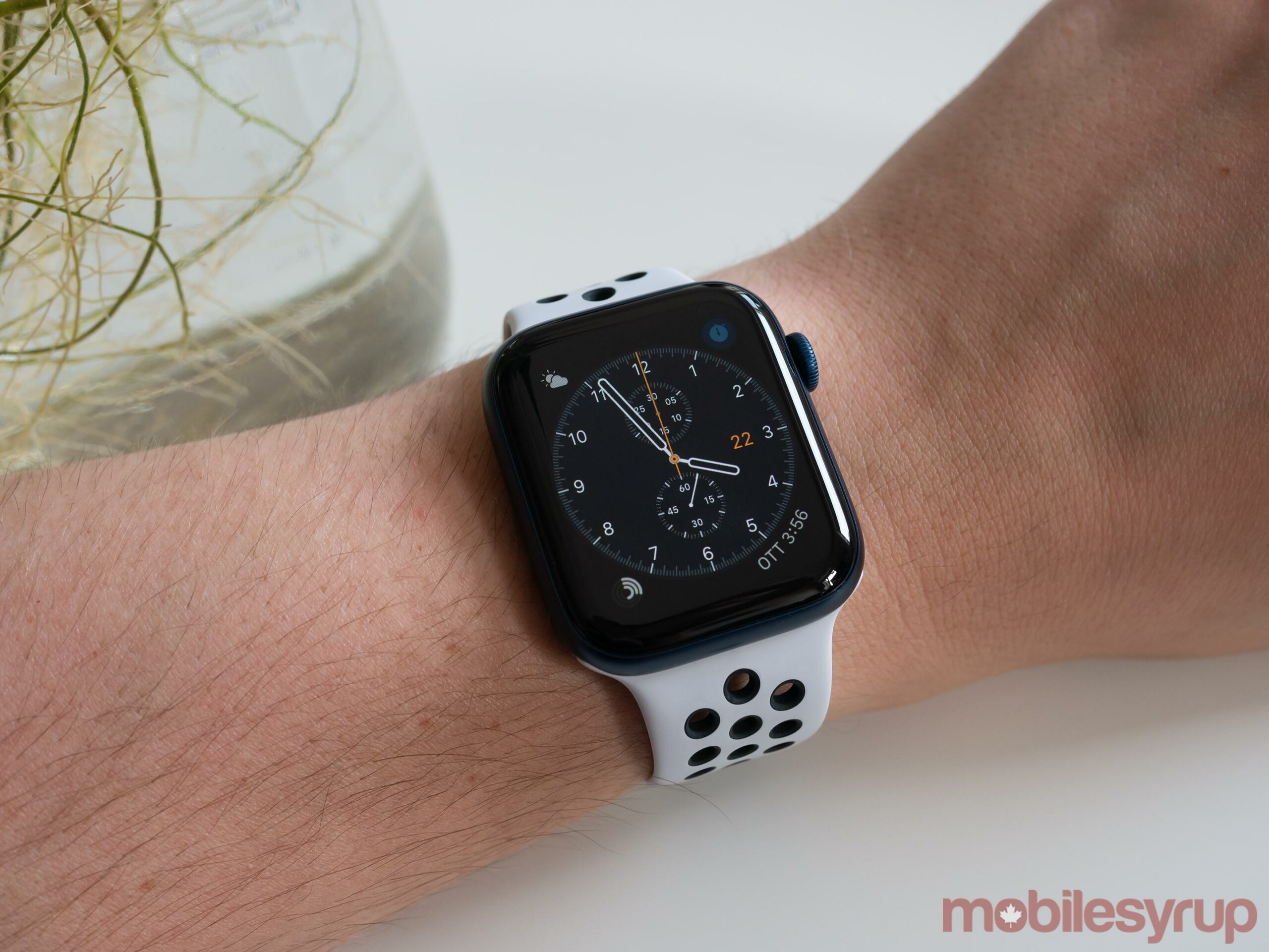 Apple Watch Series 6 on wrist