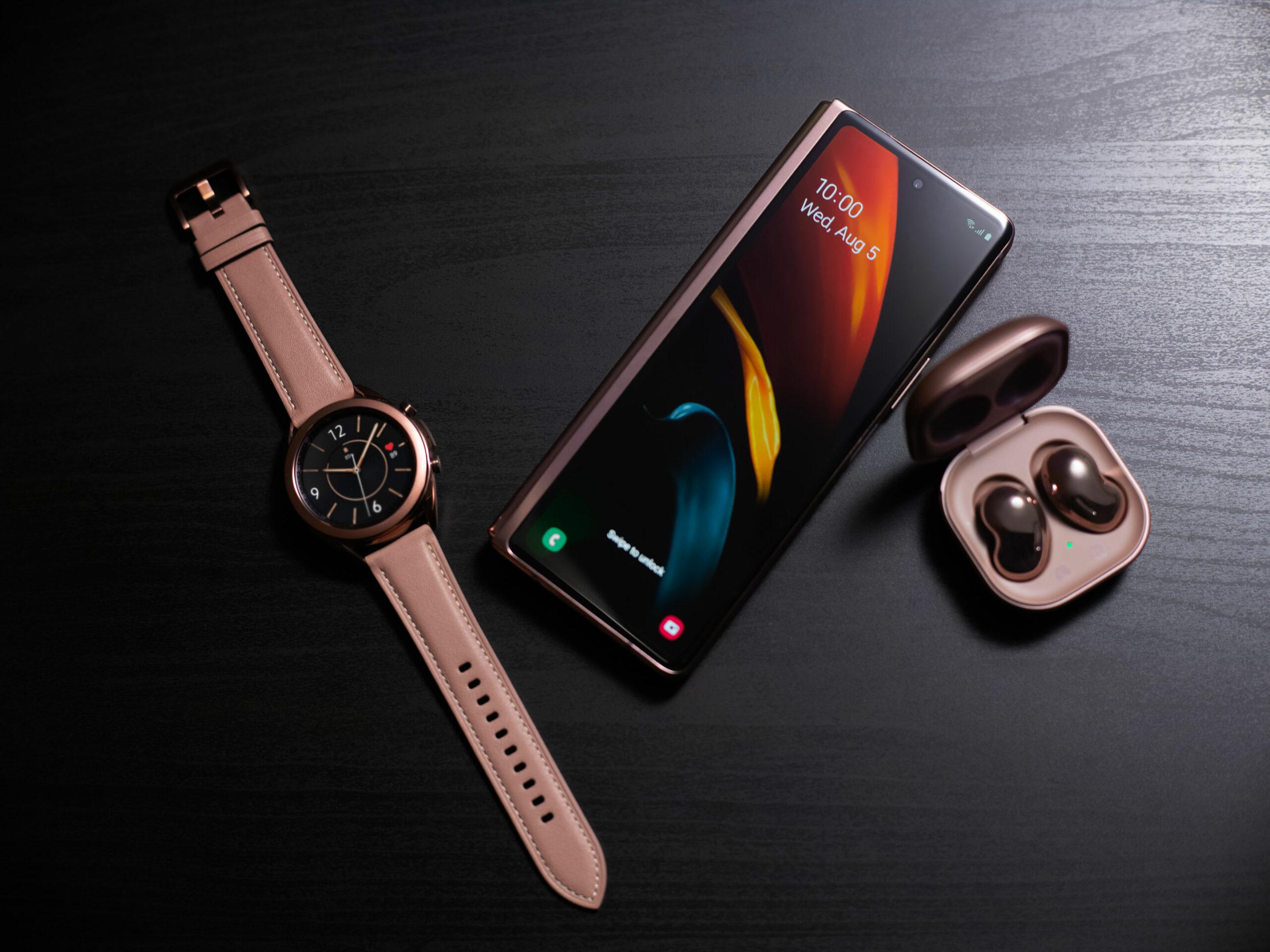 Galazy Z Fold 2, Galaxy Watch 3 and Galaxy Buds Live