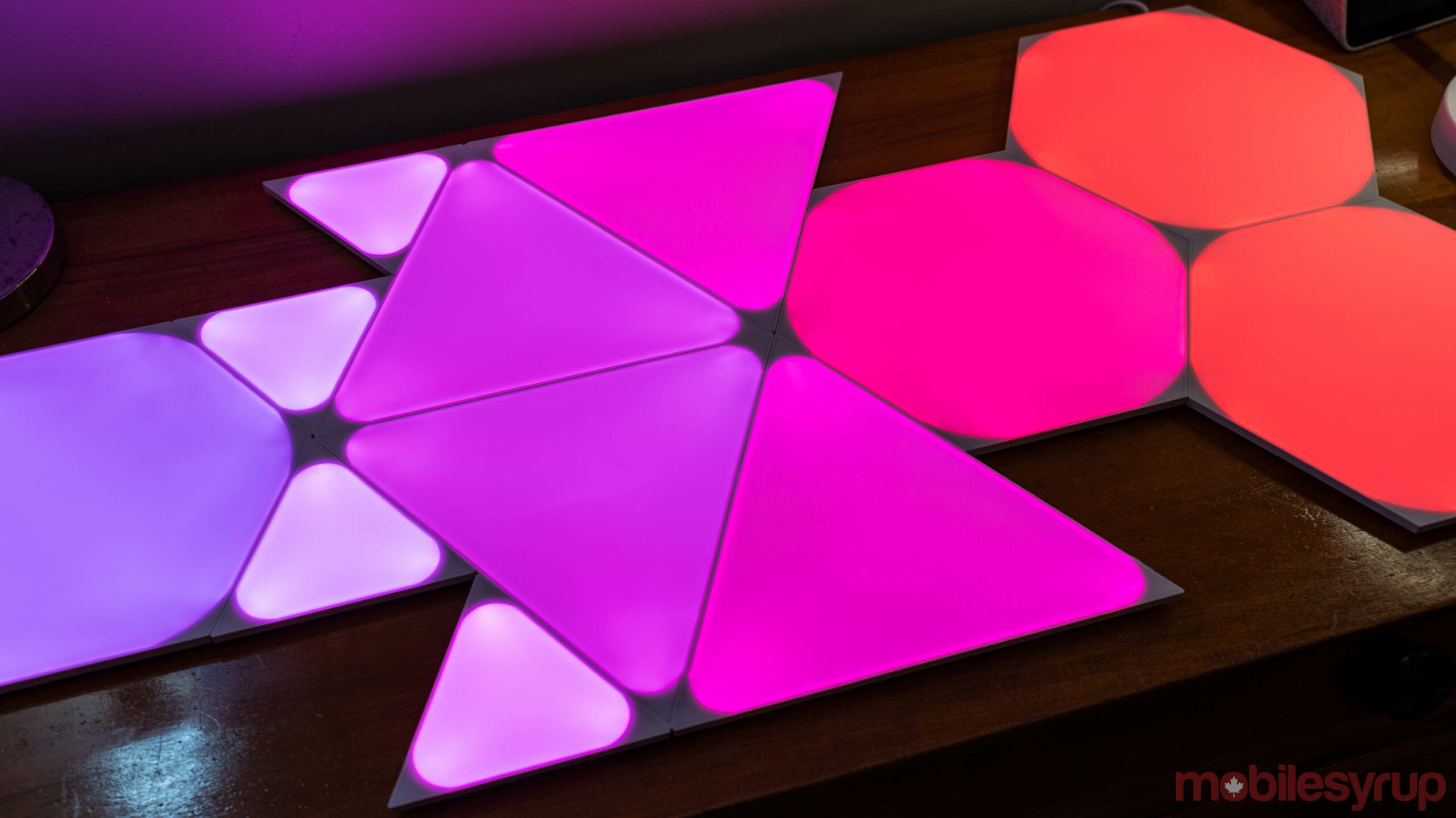 Nanoleaf Shapes with Triangles, Mini Triangles and Hexagons
