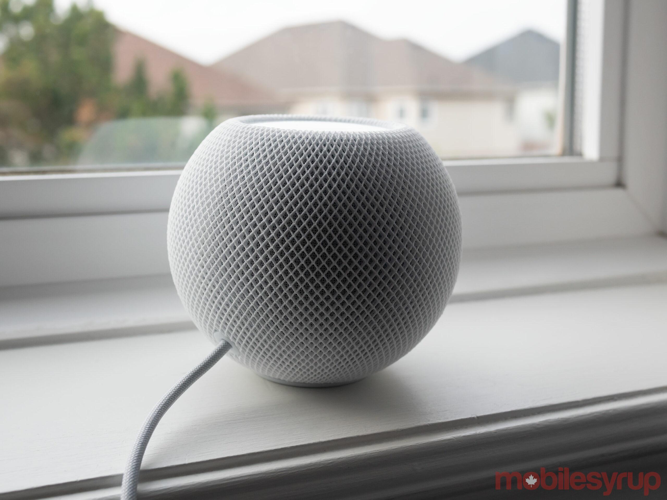 HomePod mini on window