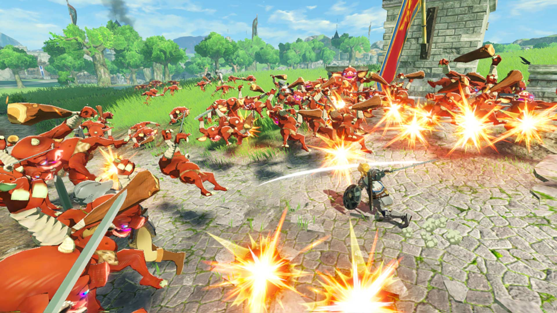 Hyrule Warriors: Age of Calamity Link combat